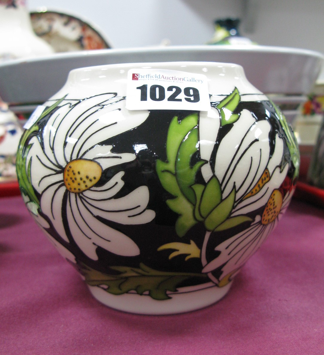 Lot 1029 - A Moorcroft First Quality 'Phoebe Summer' Vase, shape 402/4, 10.5cm high.