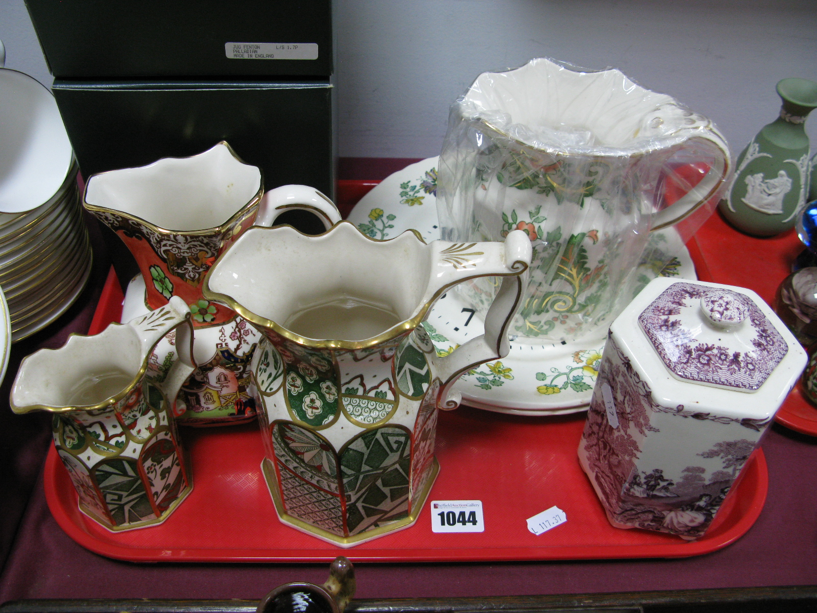 Lot 1044 - Mason's Ironstone 'Palladian' and 'Oriental Garden' Jugs, from the collectable jugs series (both