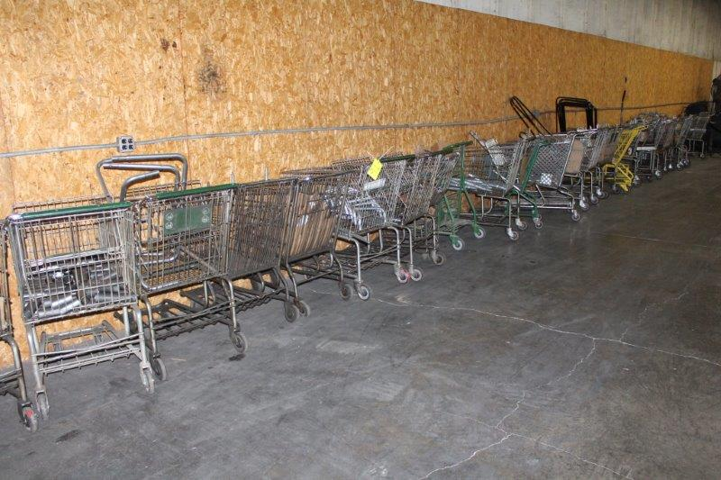 Lot 91 - Lot of Shopping Carts w/ Contents