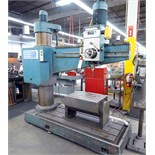 "RADIAL ARM DRILL, SOUTHBEND 5' X 11"", #5 MT spdl., spds: 40-1750 RPM, pwr. elevation, tilting box"