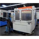 "CNC HORIZONTAL MACHINING CENTER, MAZAK MDL. H400N, new 1991, Mazatrol M32 CNC control, 22"" X, 20"""