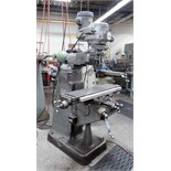 "VERTICAL TURRET MILL, BRIDGEPORT MDL. 2J, 9"" x 42"" table, spds: 60-4200 RPM, block, 2-axis D.R.O.,"