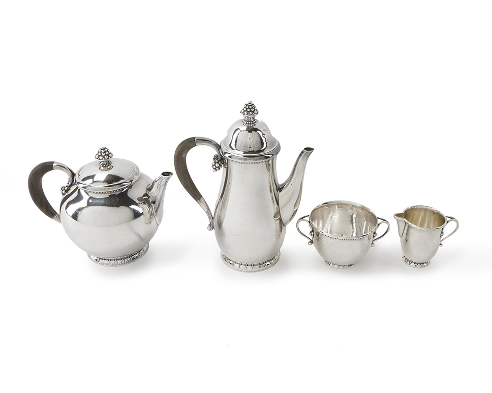 Lot 1 - A Georg Jensen No. 32 sterling silver coffee and tea service