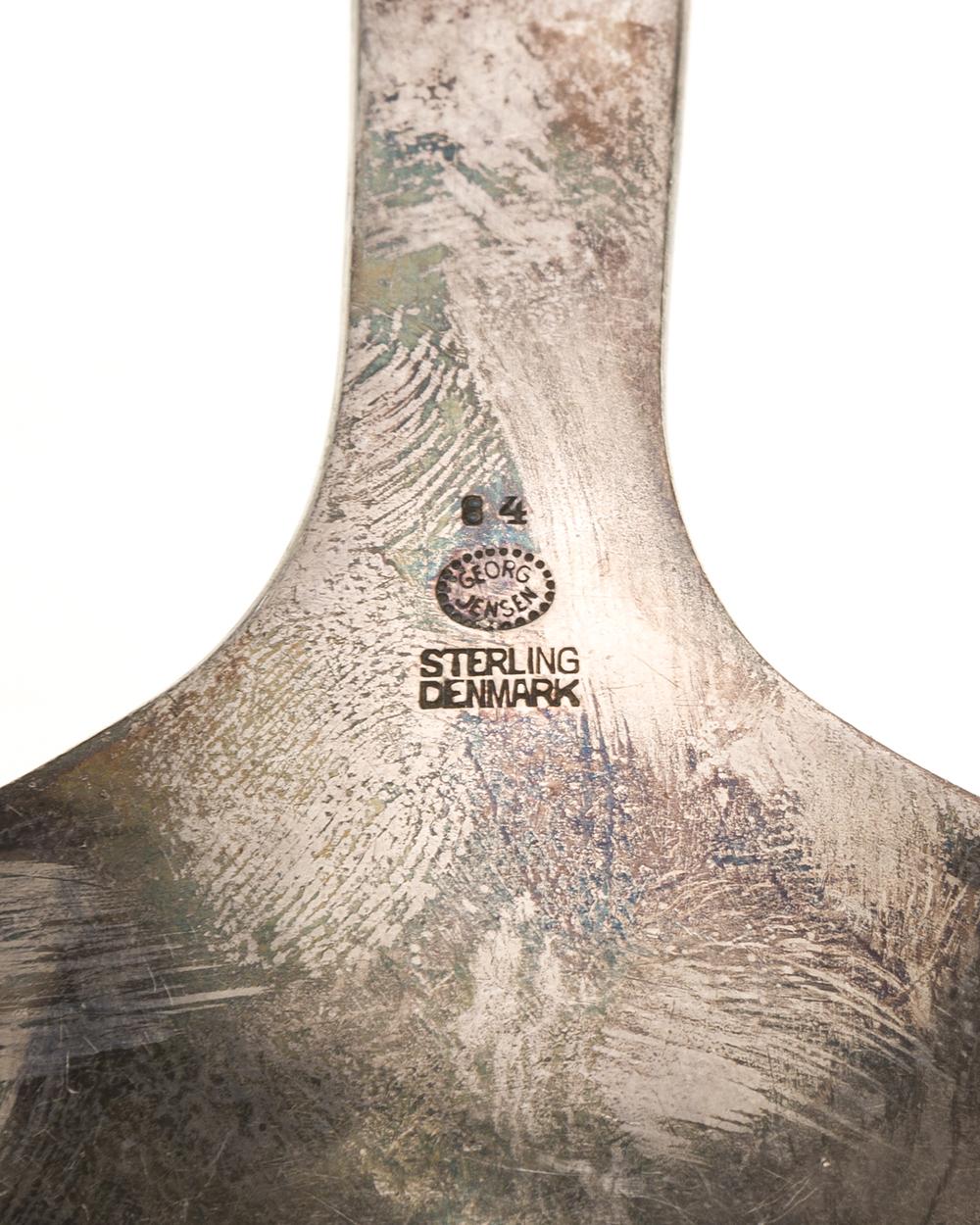 "Lot 2 - A Georg Jensen ""Blossom"" sterling silver ladle"