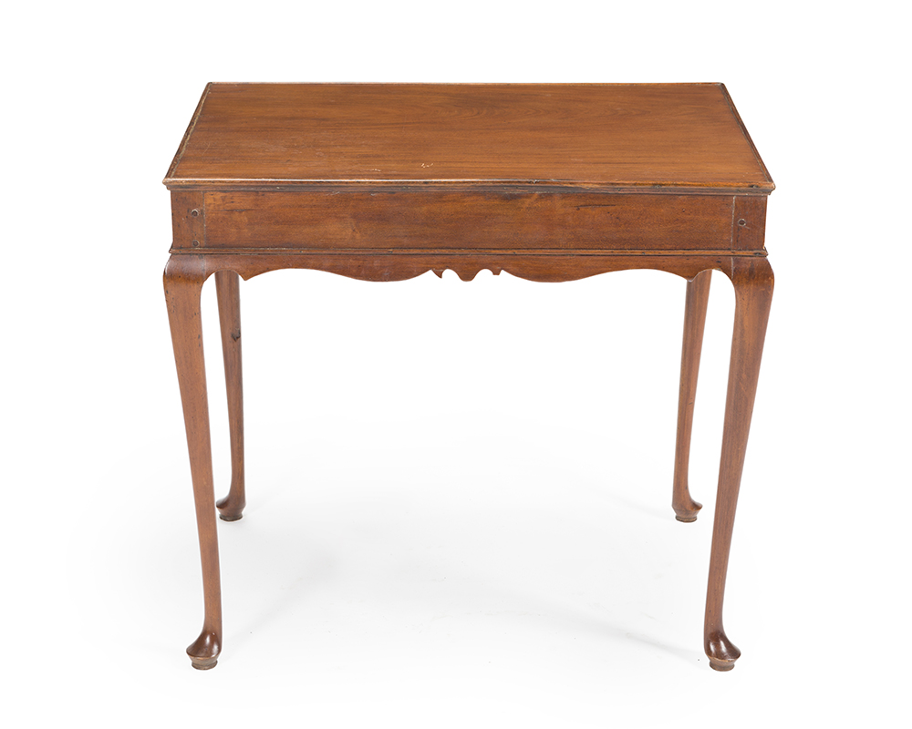 Lot 48 - An English Queen Anne-style footed side table