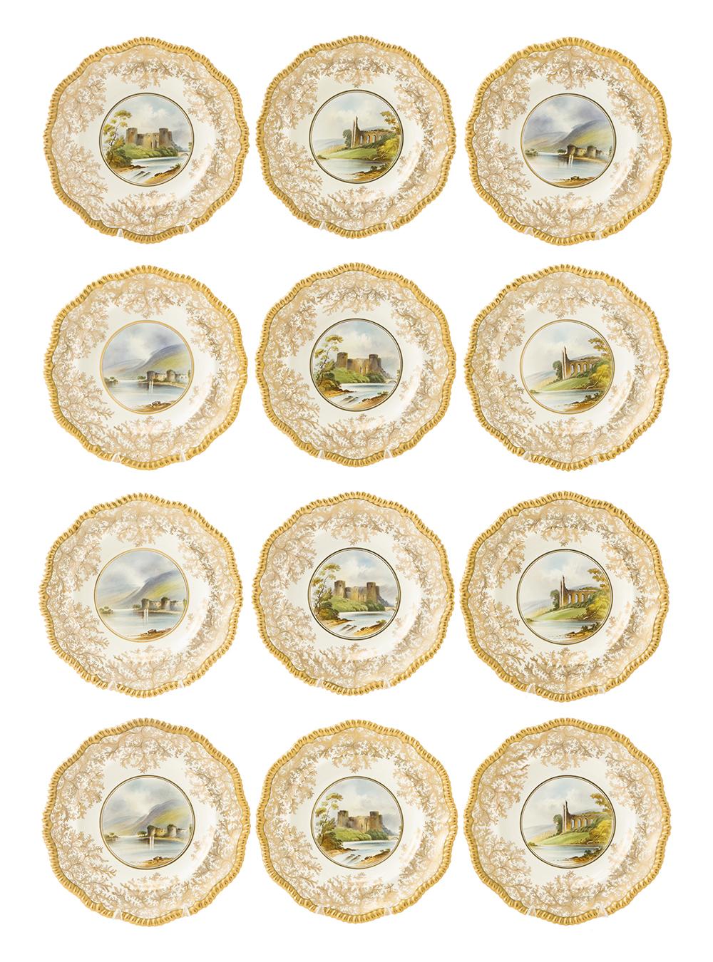 Lot 38 - Twelve Copeland Spode plates
