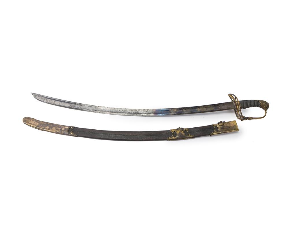 Lot 30 - An English officer's light cavalry saber