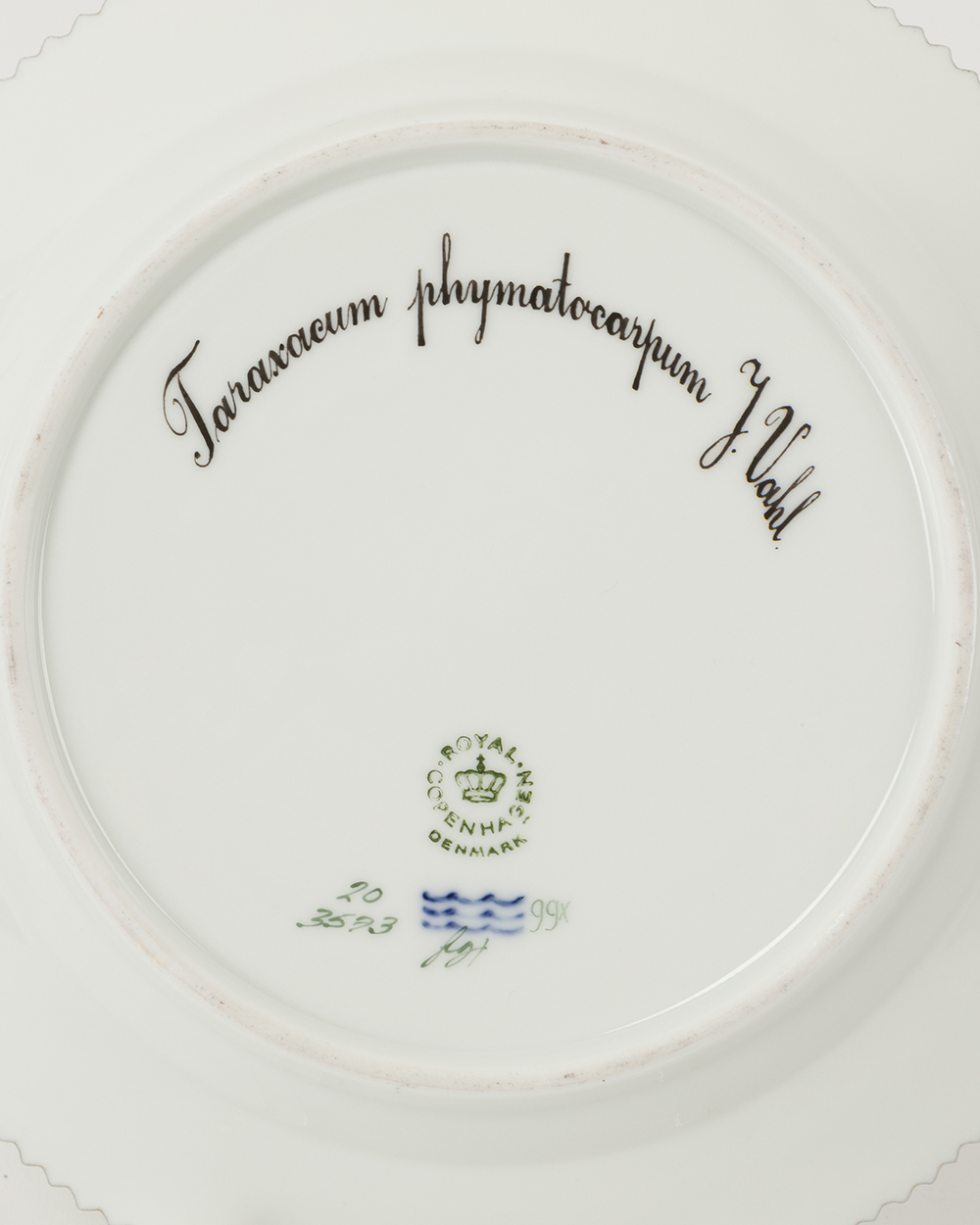 "Lot 8 - Ten Royal Copenhagen ""Flora Danica"" salad plates"