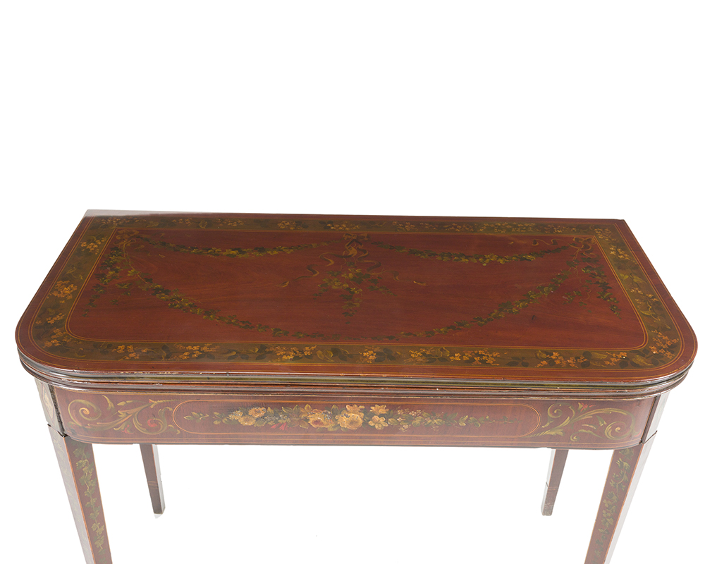 Lot 47 - A George III painted game table
