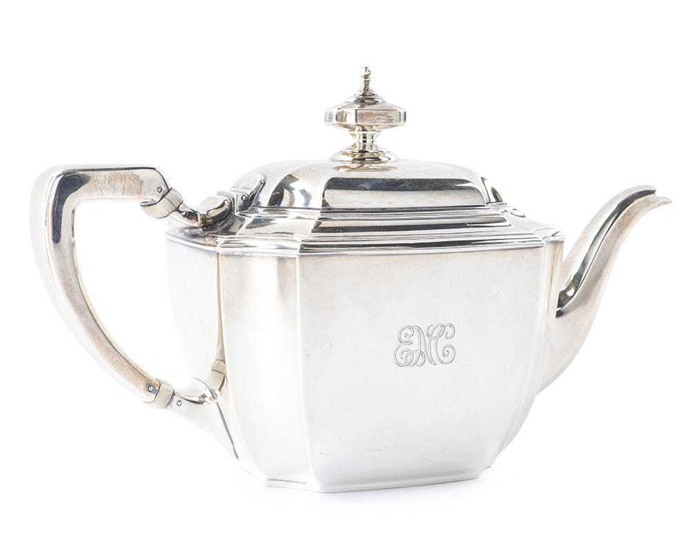"Lot 58 - A Tiffany & Co. ""Hampton"" sterling silver tea and coffee service"