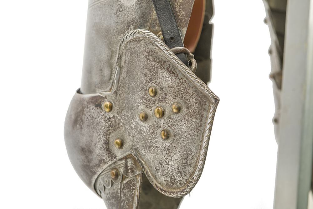 Lot 28 - A German cuirassier suit of armor
