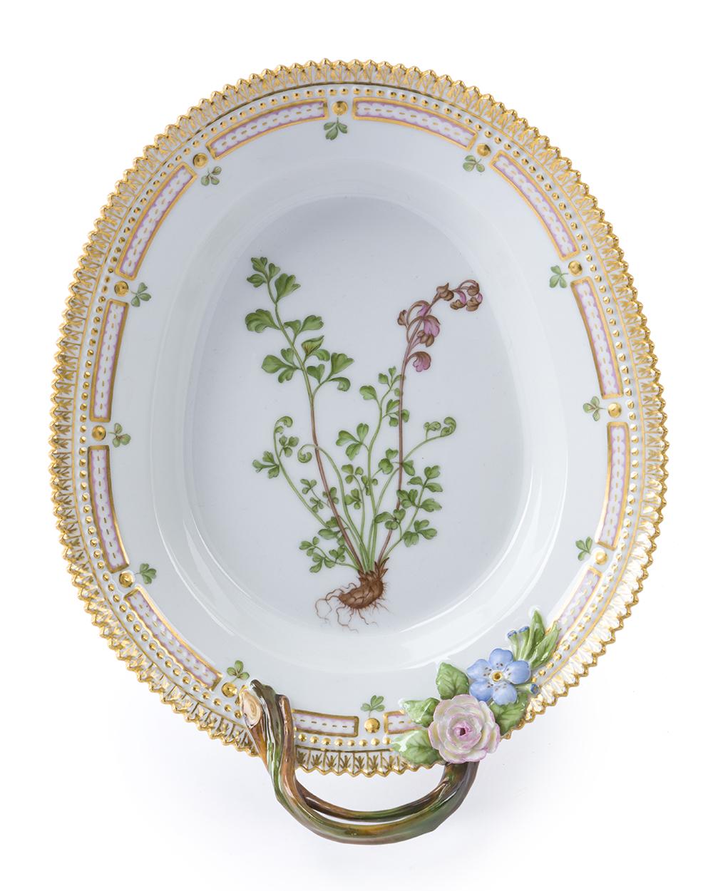 """Lot 6 - A Royal Copenhagen """"Flora Danica"""" pickle/accent platter"""