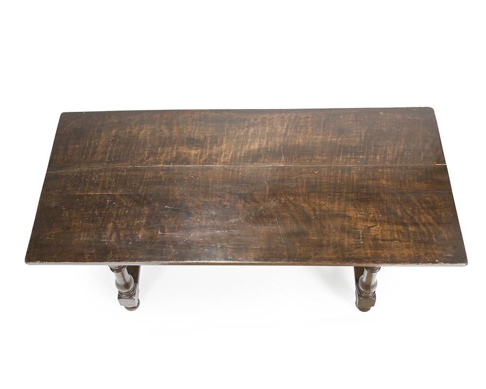Lot 21 - A Spanish trestle table