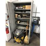 Cabinet with Contents and Shop-Vac
