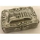 An antique Nathaniel Mills silver lidded trinket box hallmarked 1845.