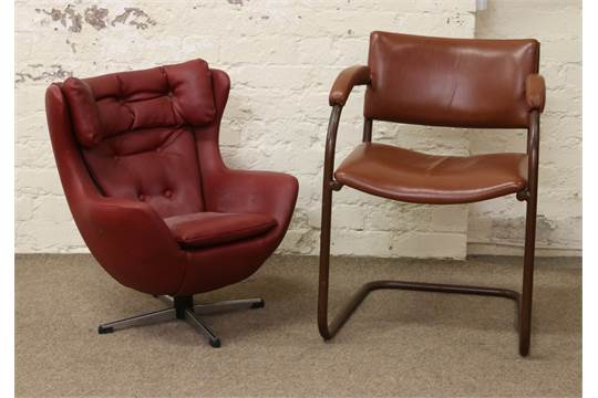 Surprising A Childs Retro Red Leather Swivel Tub Chair Along With An Ibusinesslaw Wood Chair Design Ideas Ibusinesslaworg
