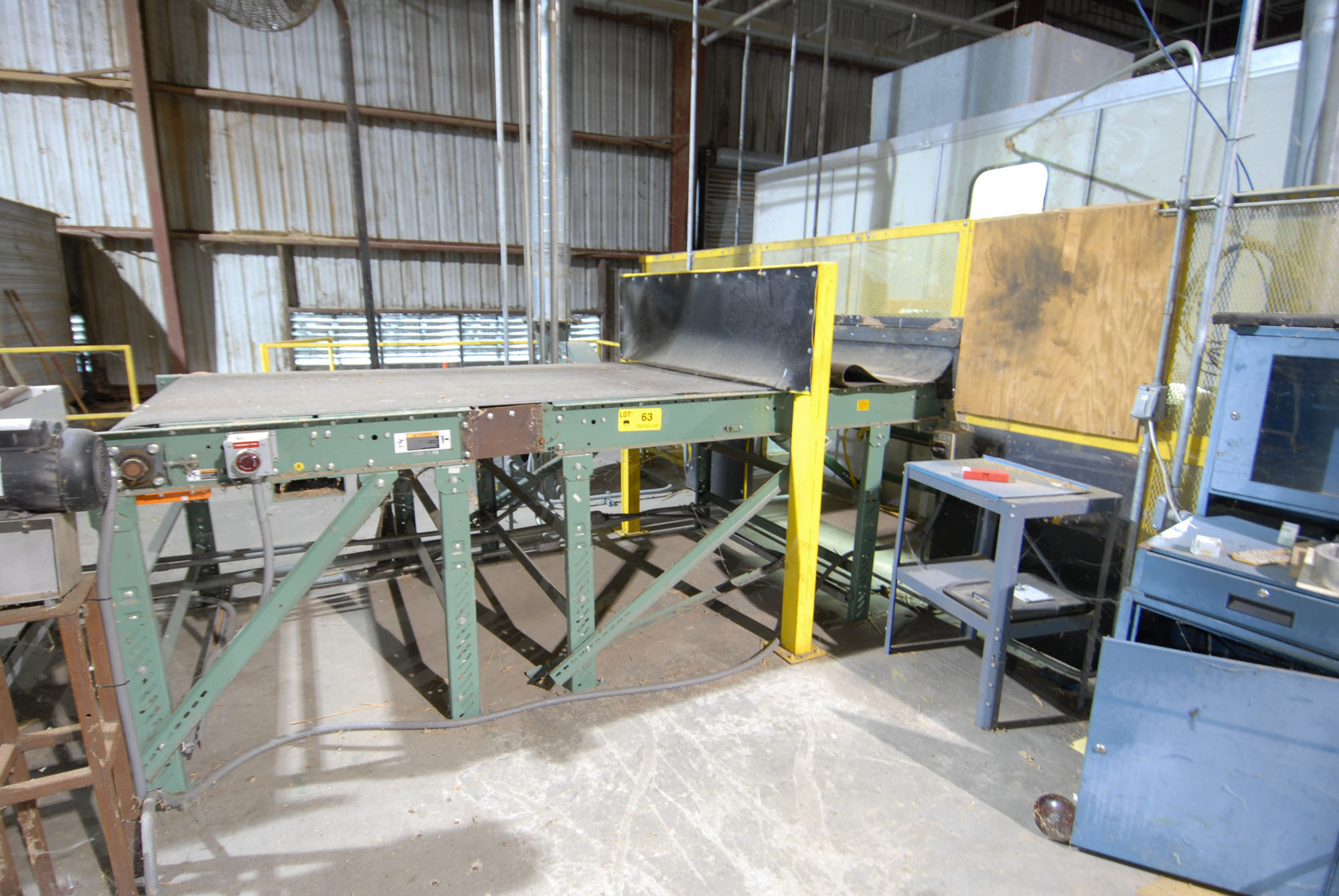 "Lot 63 - 54"" X 175"" OUT-FEED BELT CONVEYOR (CI)"