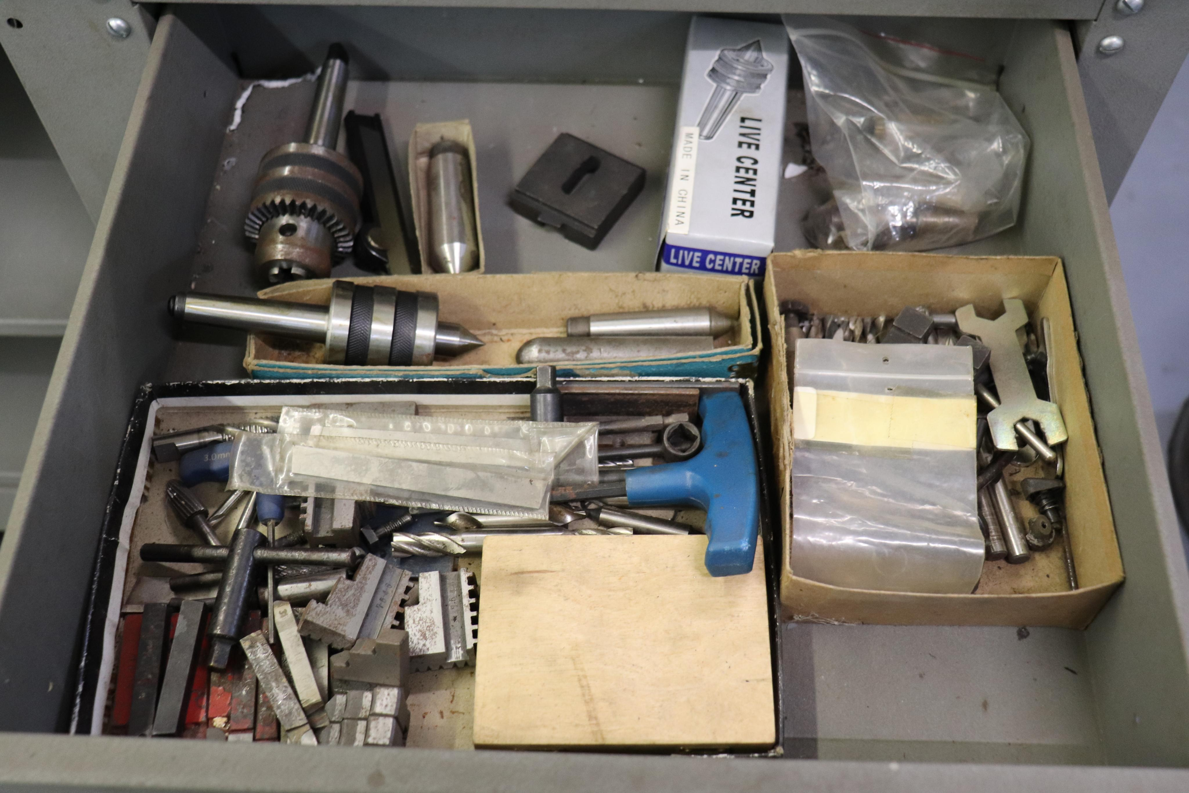 CF 918 bench top lathe w/ Kennedy cabinet, 110v - Image 16 of 17