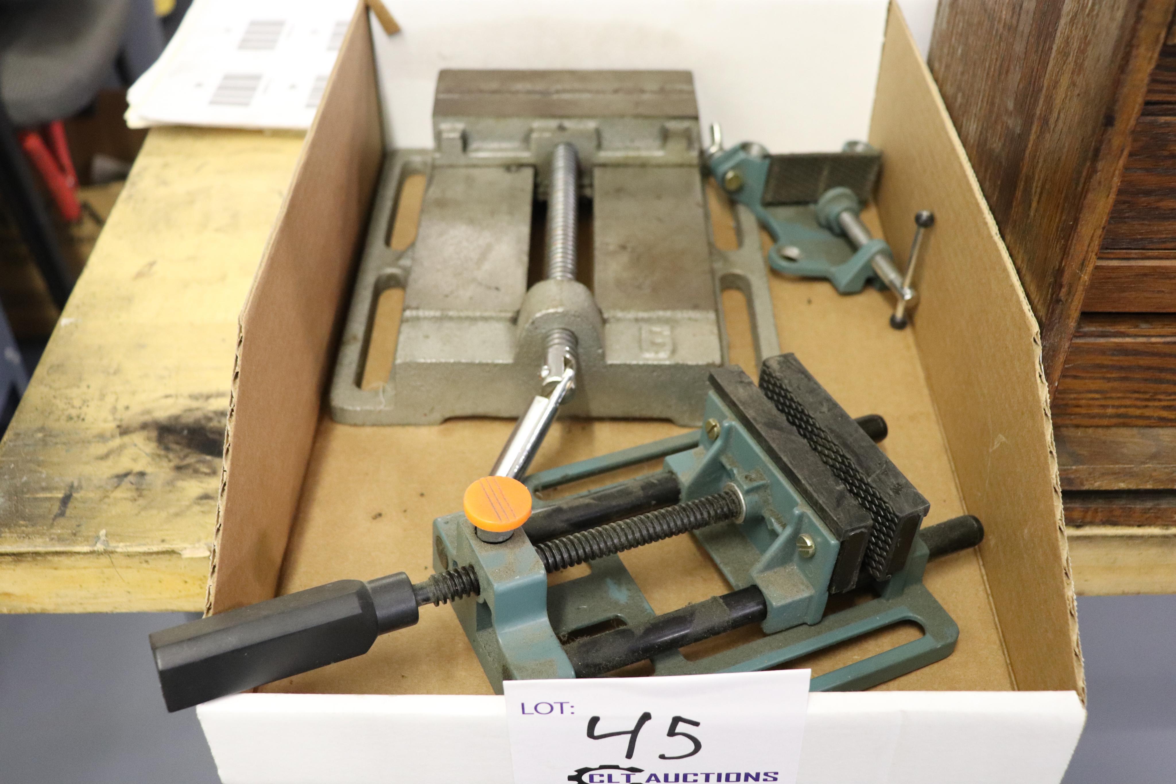 "6"" drill press and plastic vise"