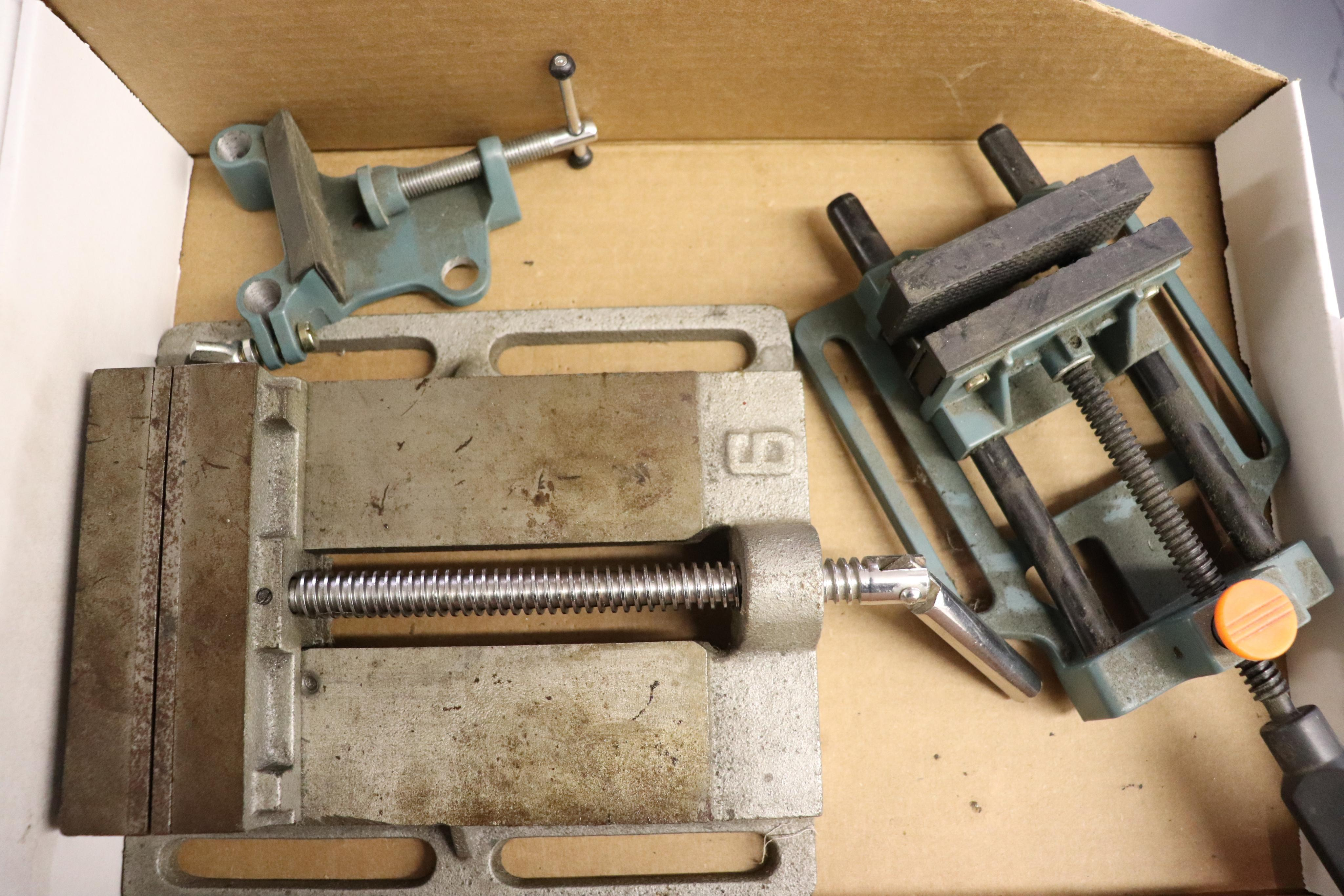 """6"""" drill press and plastic vise - Image 2 of 3"""