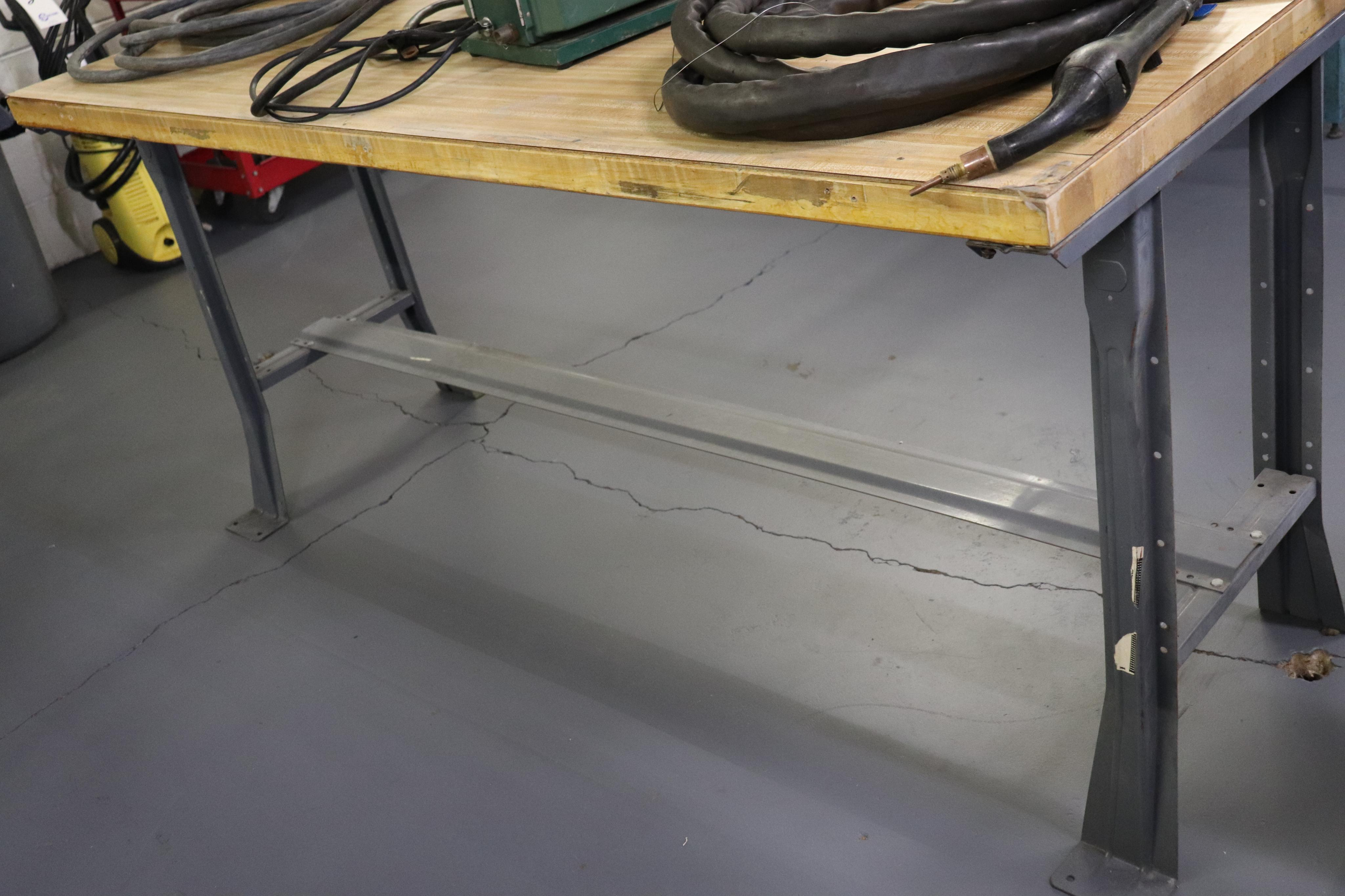 "Wood top work bench 72"" x 30"" x 34"" - Image 2 of 2"