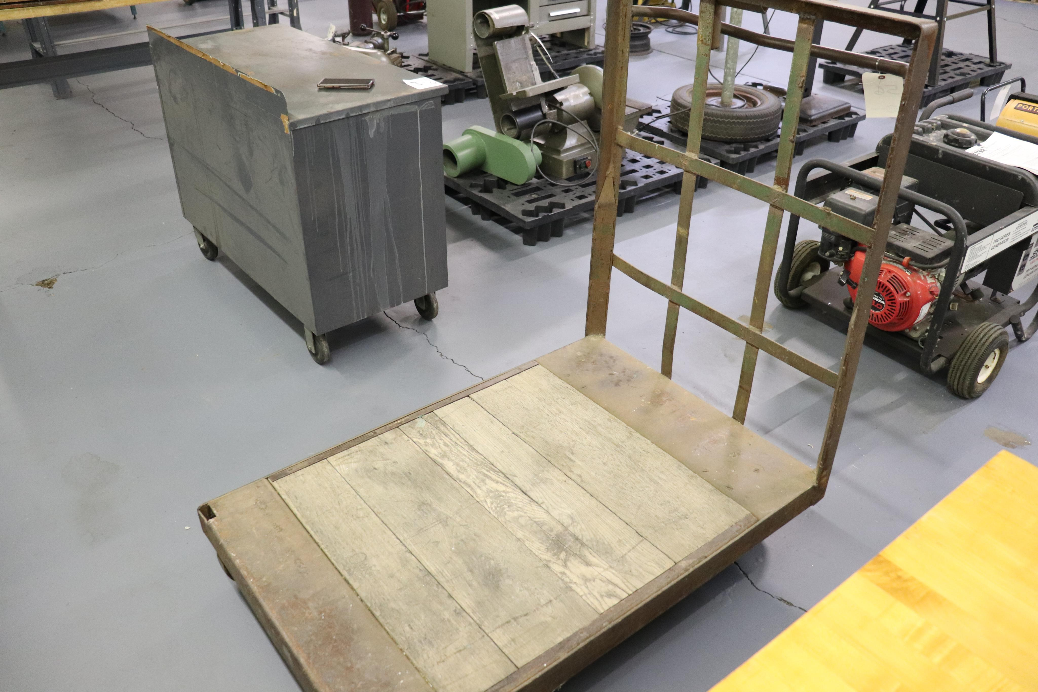 "Oak flatbed cart 48"" x 32"" x 50"" - Image 2 of 2"