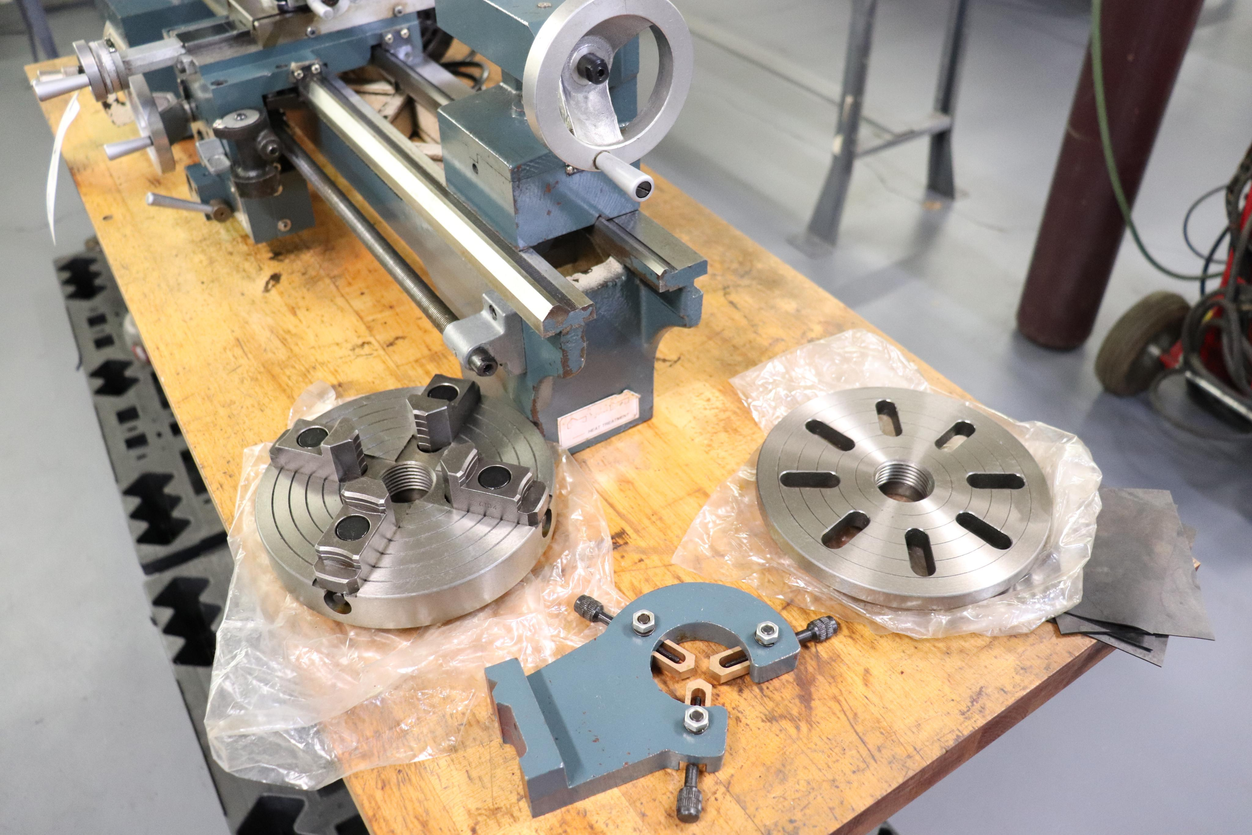 CF 918 bench top lathe w/ Kennedy cabinet, 110v - Image 3 of 17