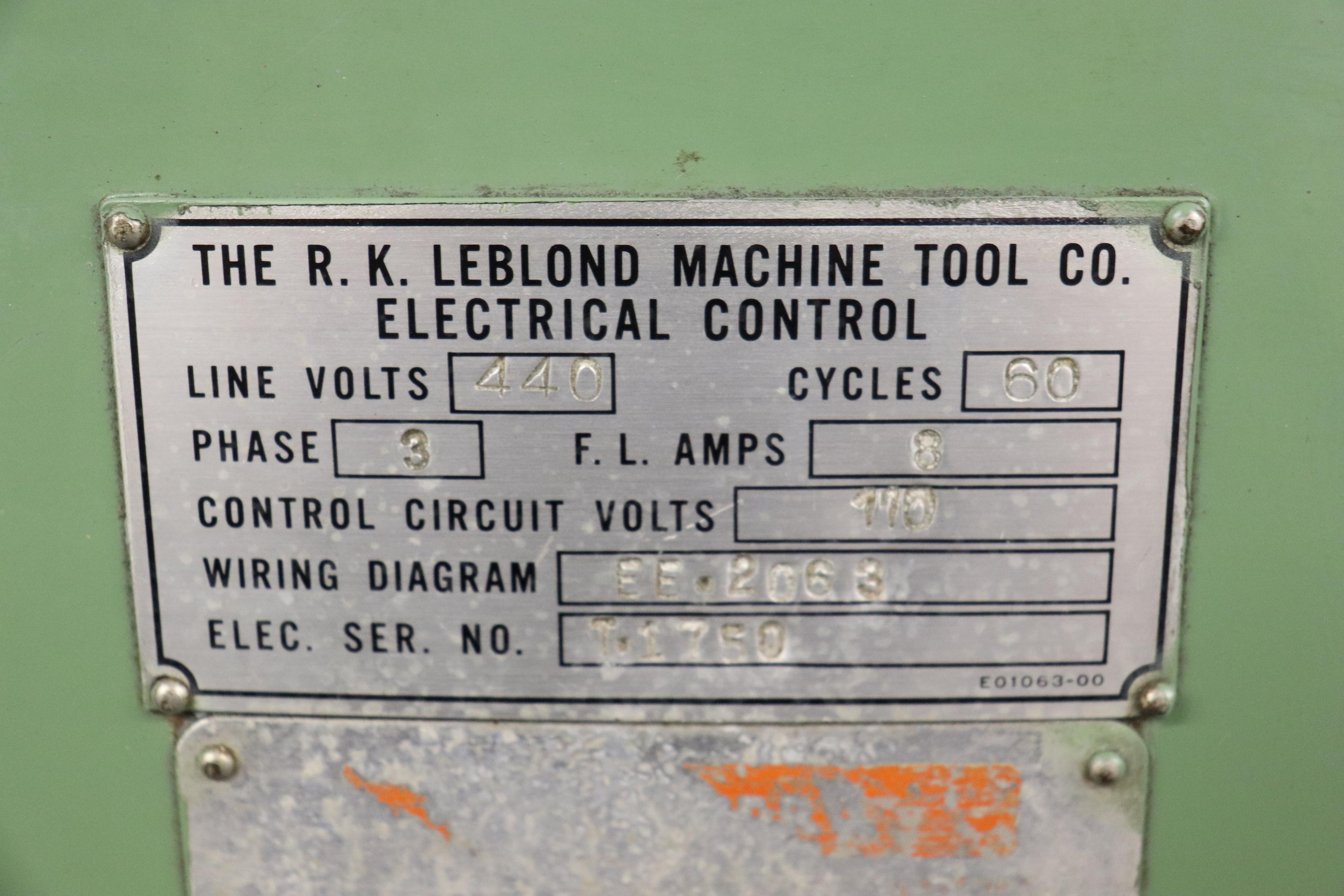 "Leblond Tool & Die Maker Lathe 14"" x 30"" - Image 12 of 13"