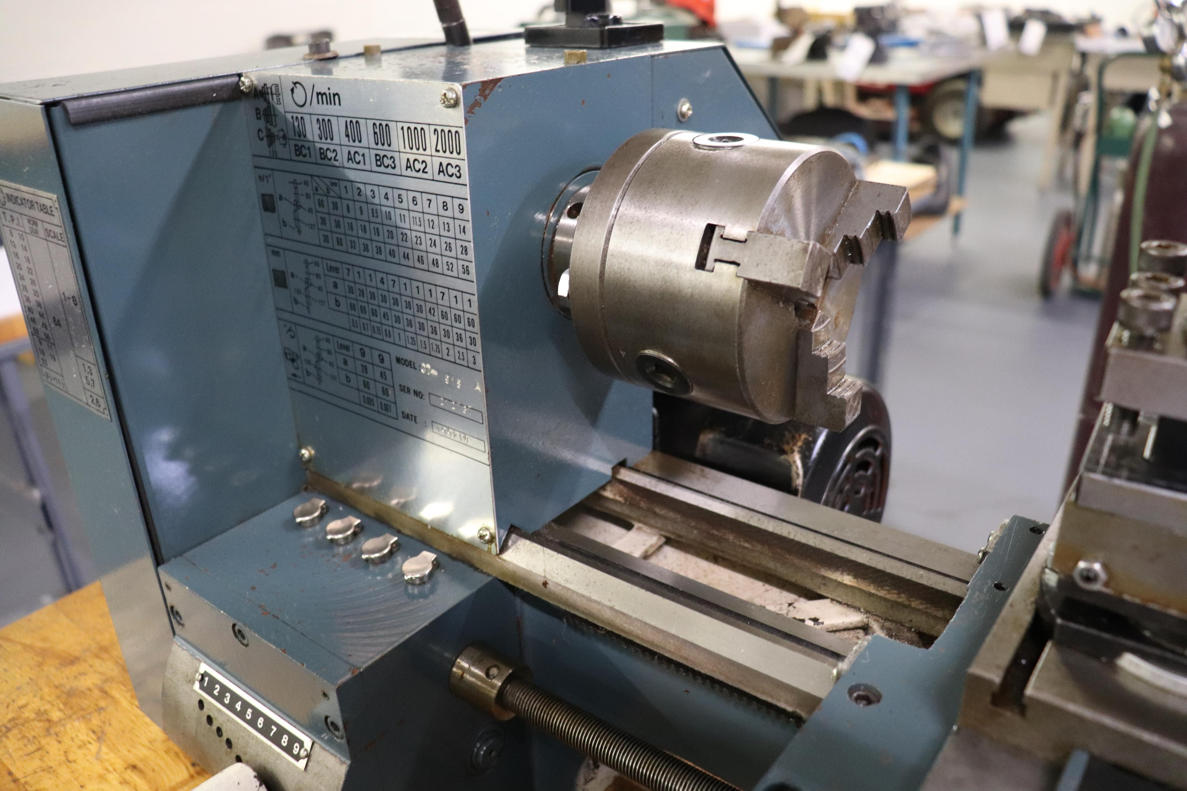 CF 918 bench top lathe w/ Kennedy cabinet, 110v - Image 4 of 17