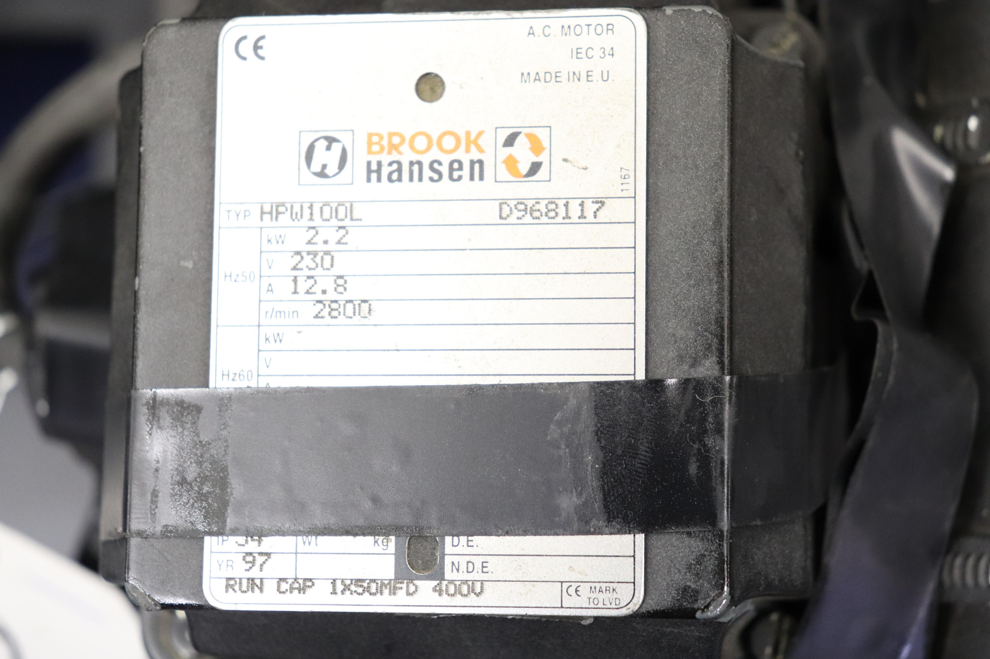 Ingersoll-Rand Euro 2.2KW air compressor *has bad switch* - Image 3 of 4