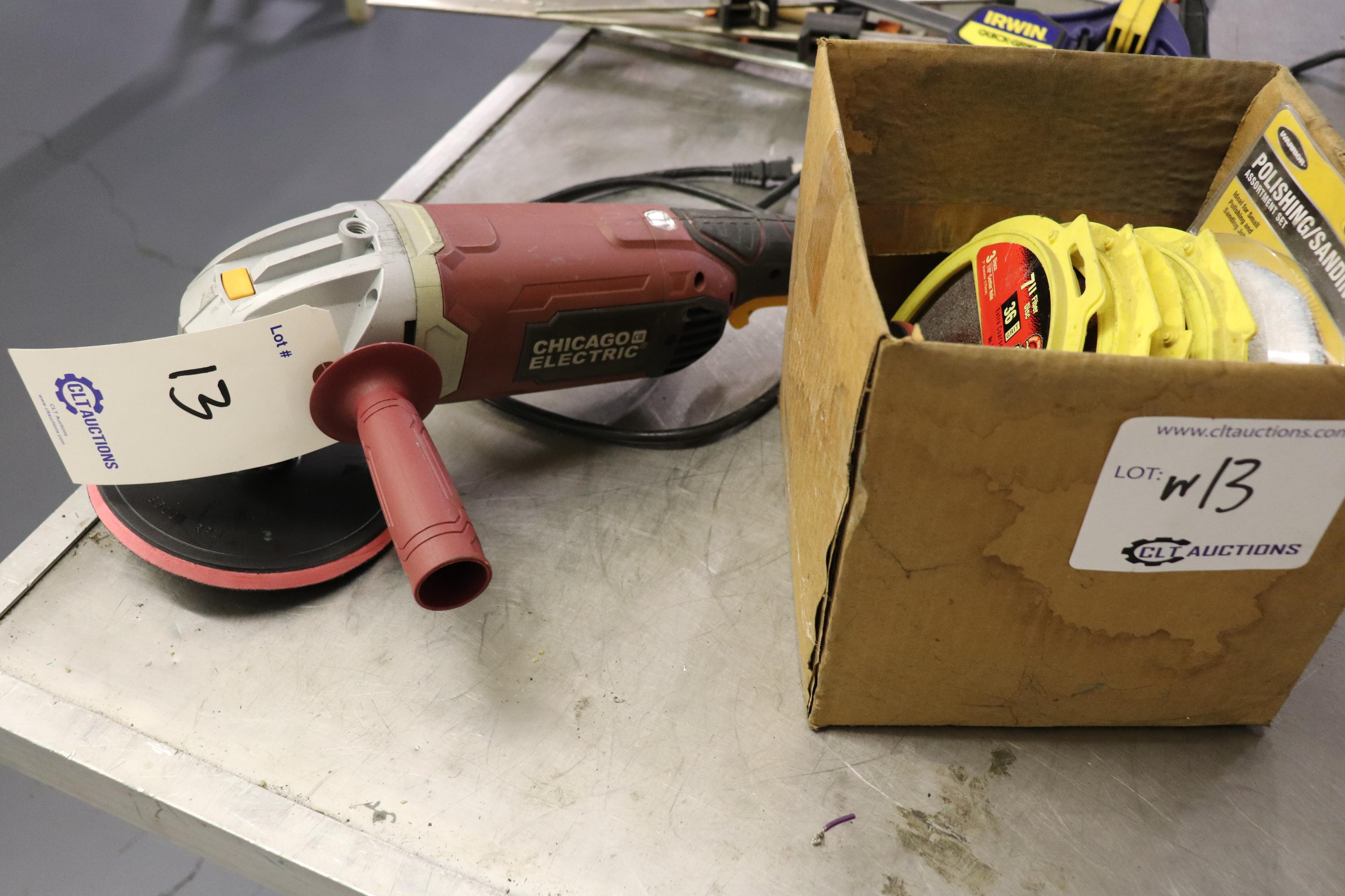 """9"""" angle grinder & accessories"""
