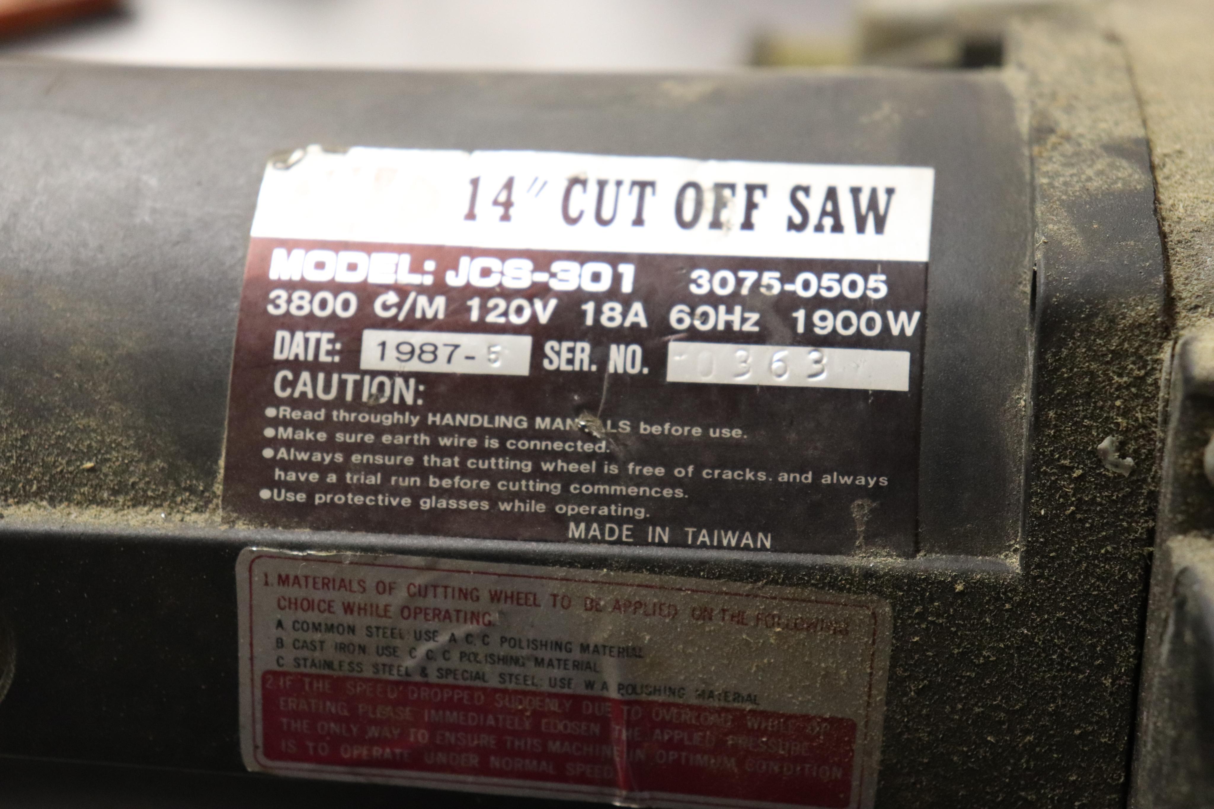 "WT JCS-301 14"" cut off saw - Image 3 of 3"