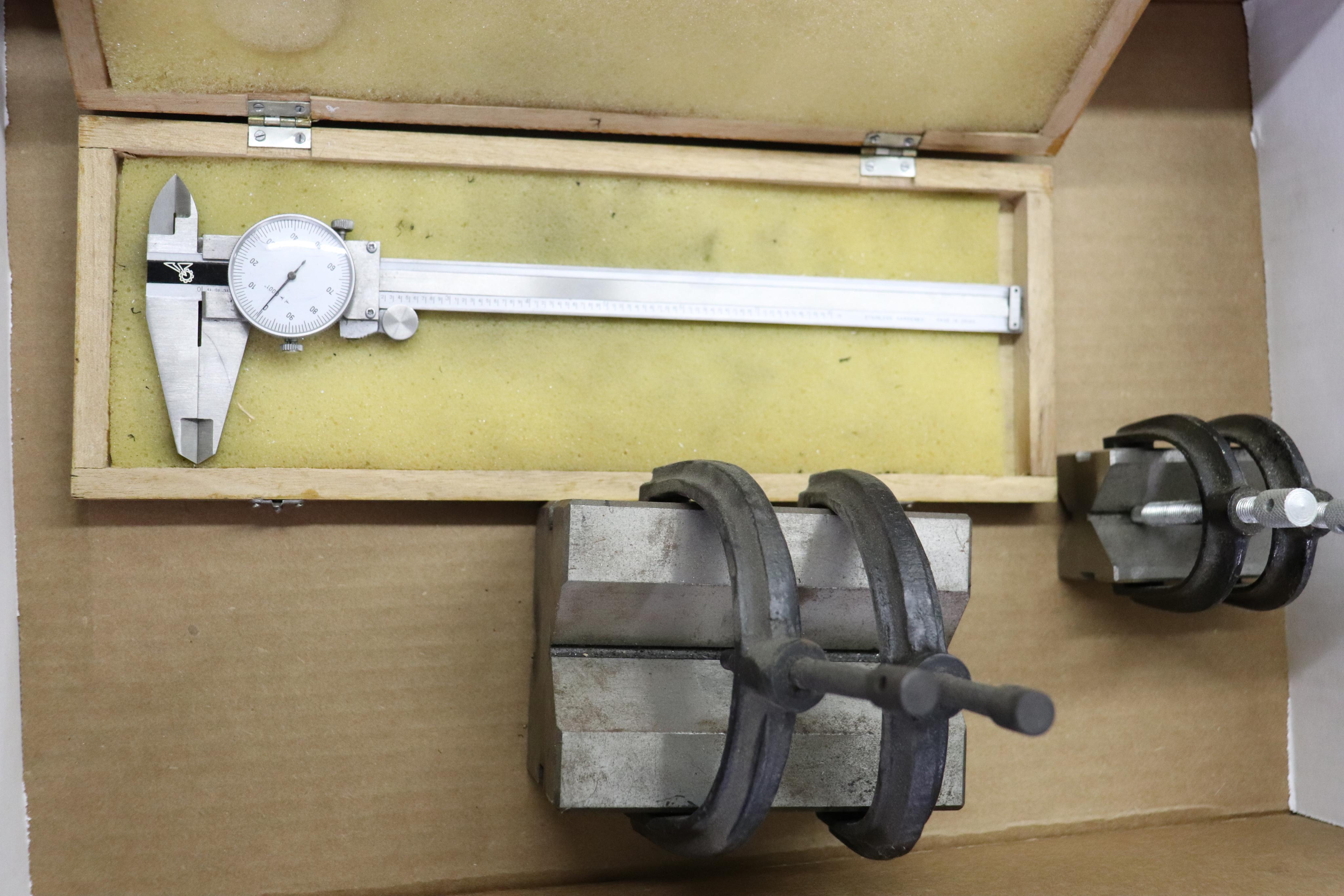 Dial caliper & V-blocks - Image 2 of 2