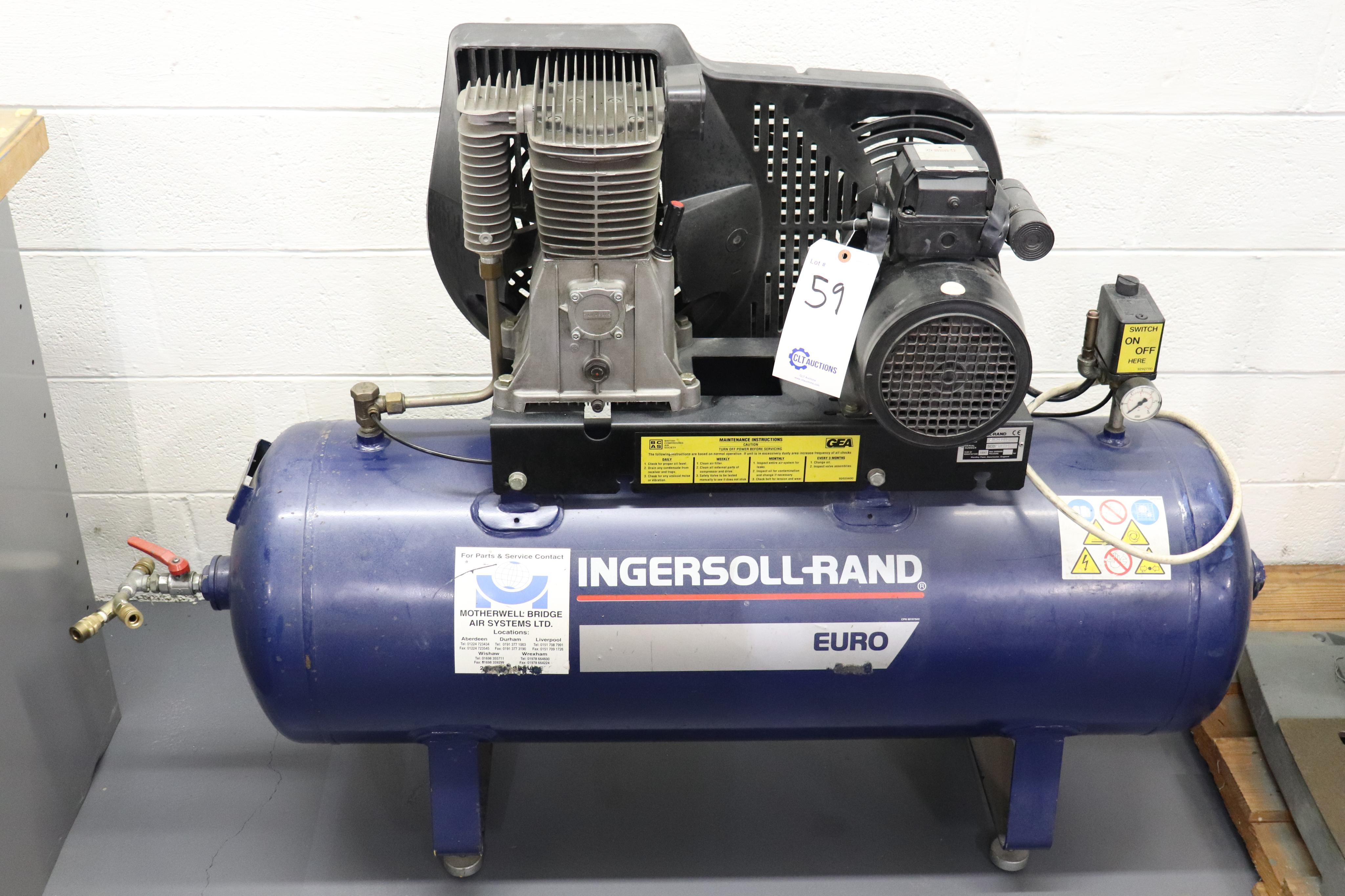 Ingersoll-Rand Euro 2.2KW air compressor *has bad switch*