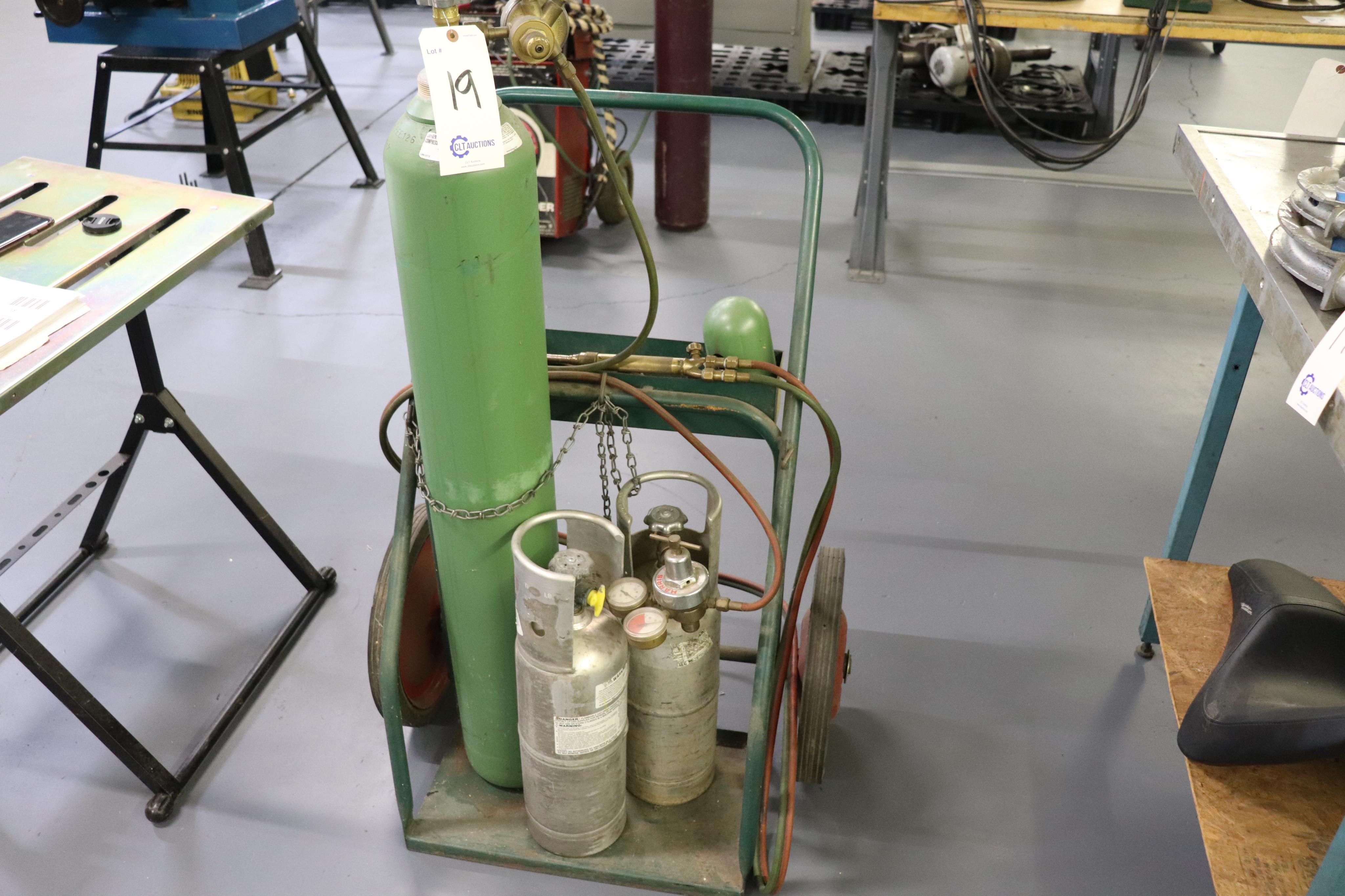 Braising torch & cart