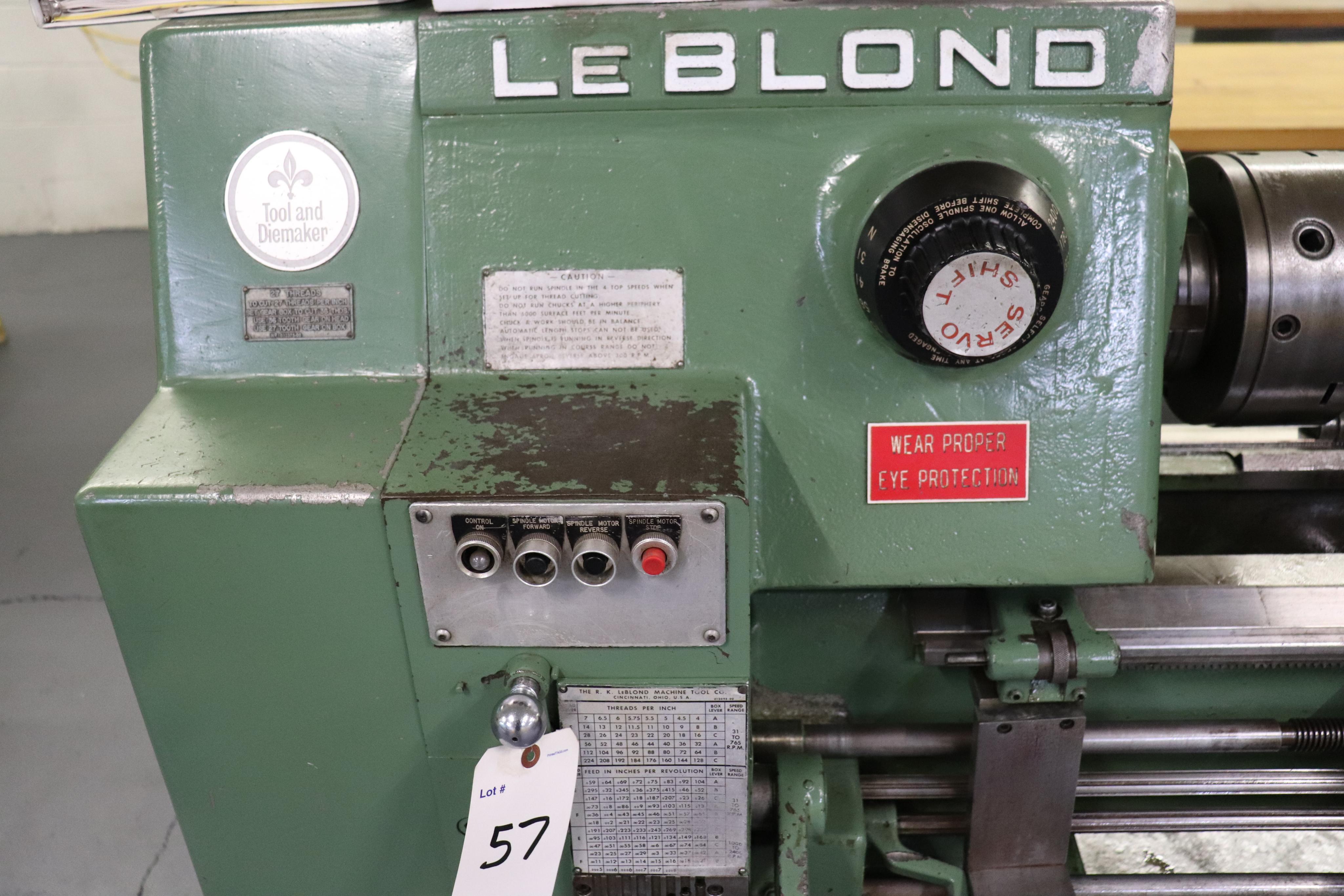"Leblond Tool & Die Maker Lathe 14"" x 30"" - Image 3 of 13"