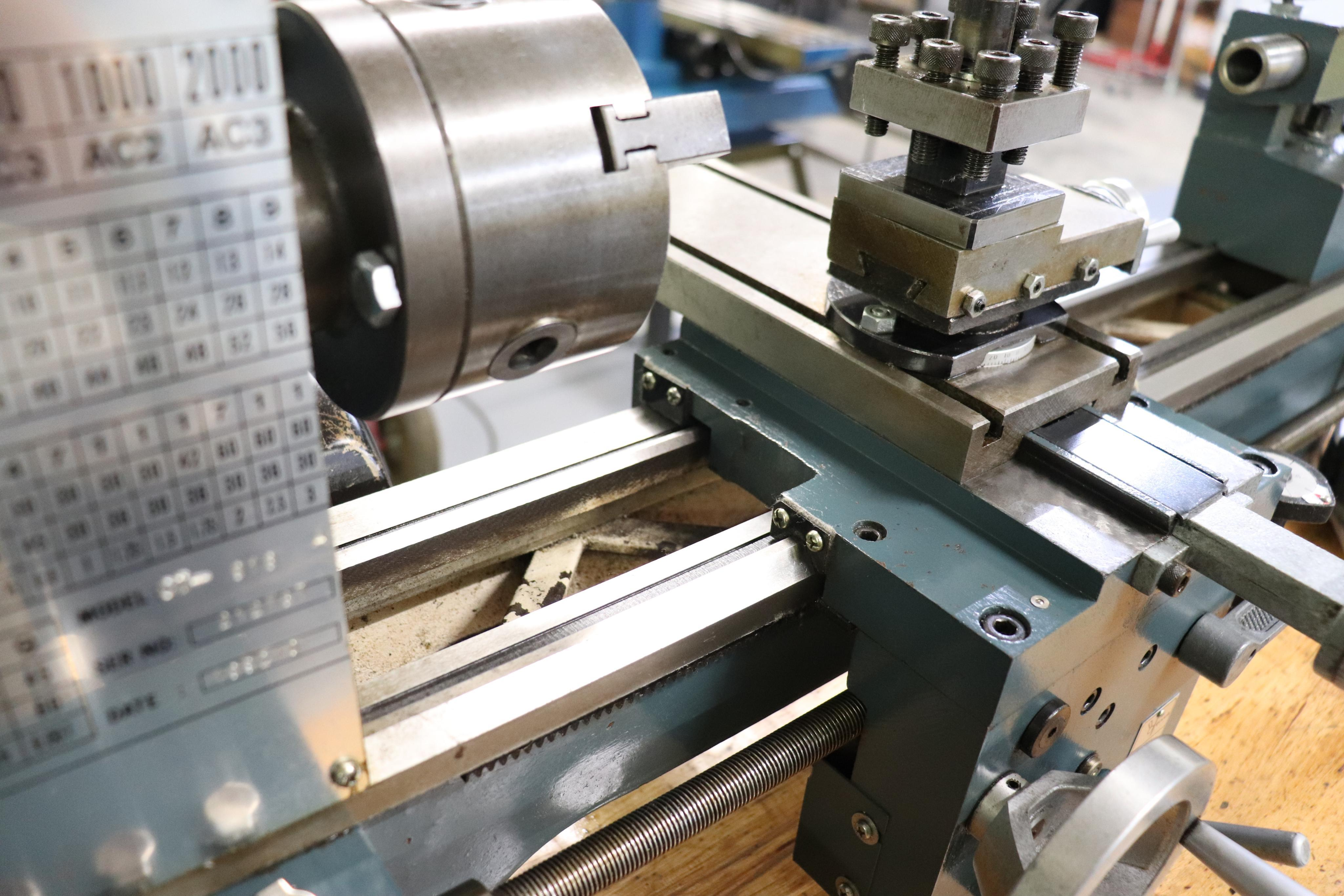 CF 918 bench top lathe w/ Kennedy cabinet, 110v - Image 6 of 17