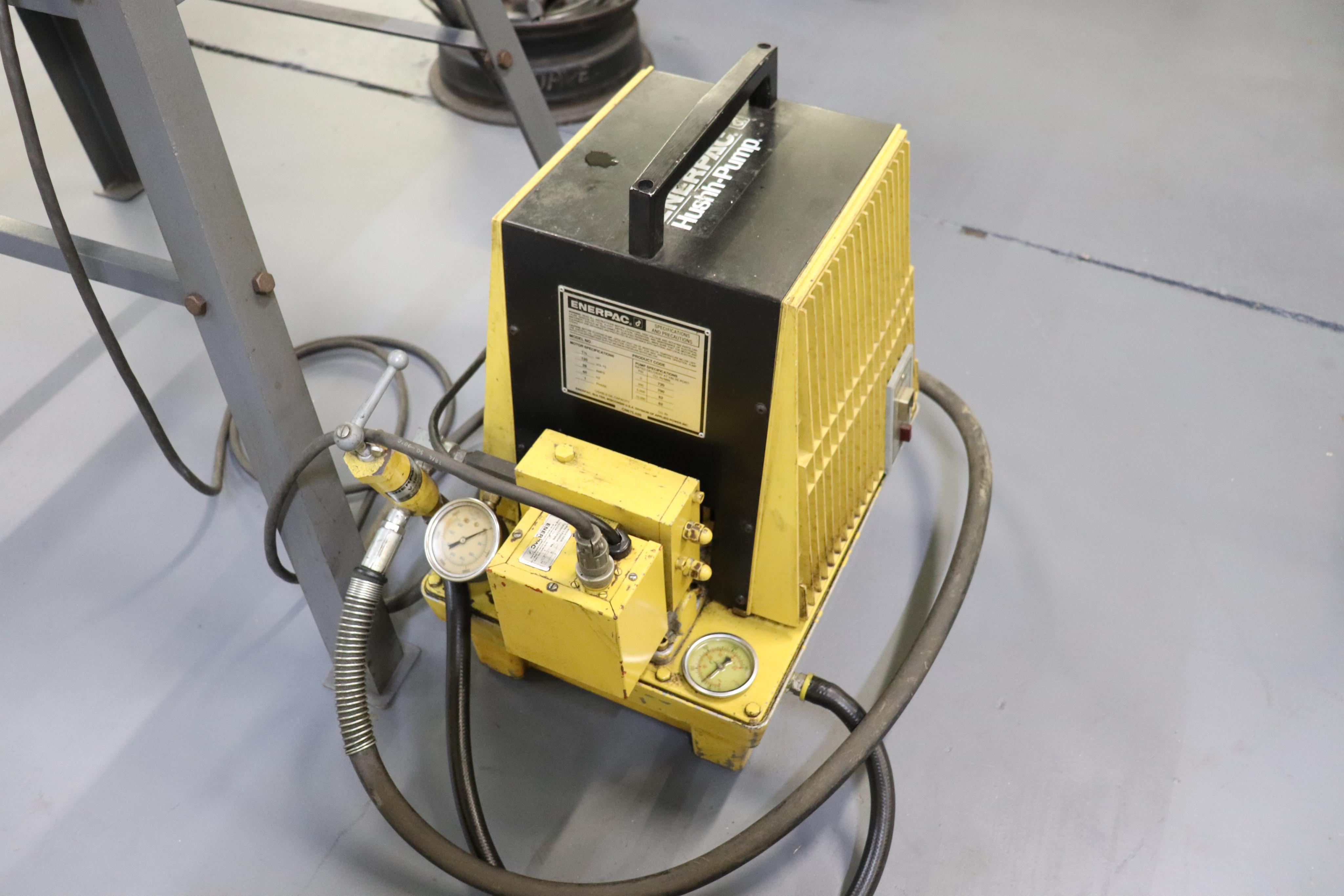 Enerpac Hush pump w/ C frame press - Image 4 of 8