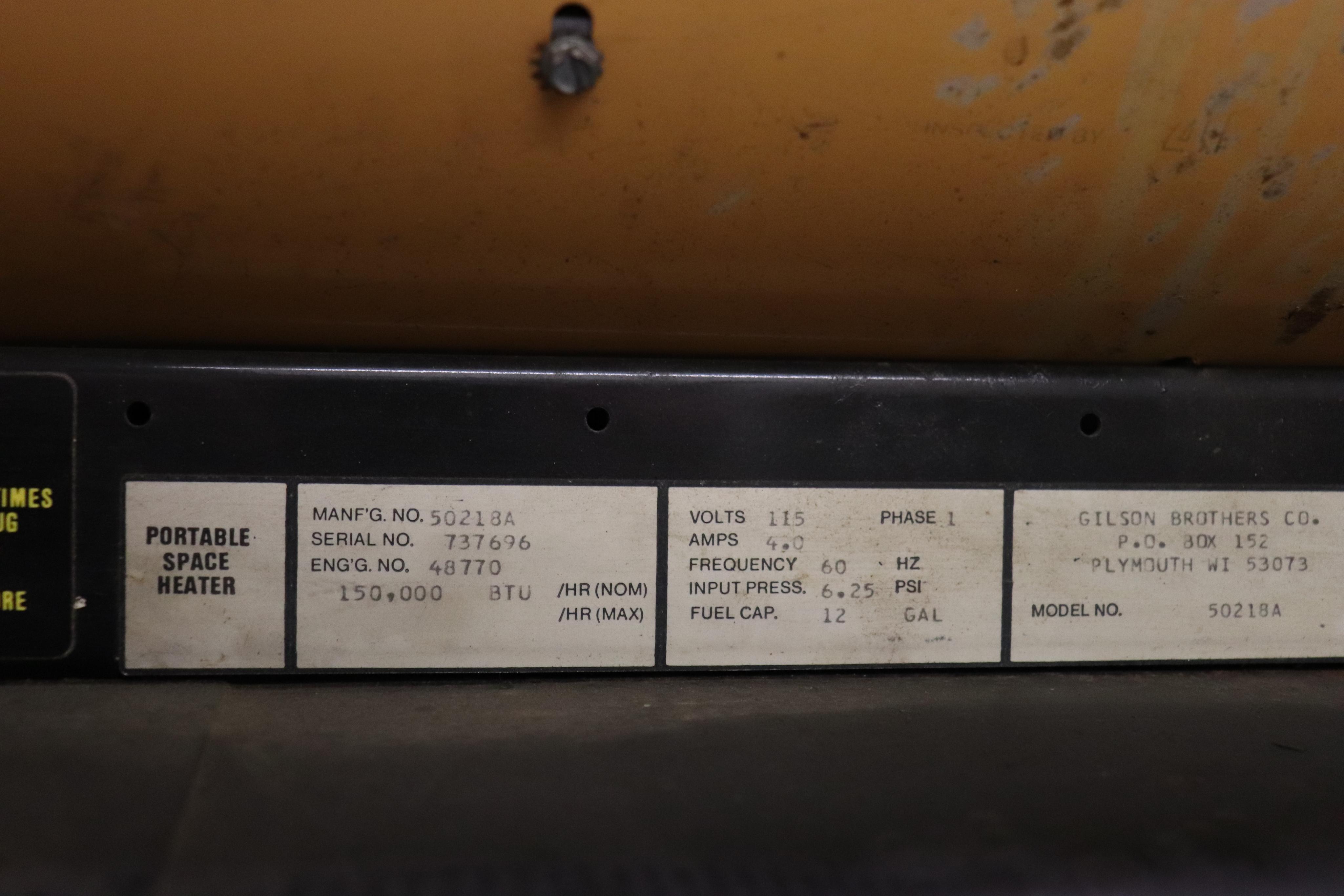Porta - Heat 150,000 BTU portable space heater - Image 2 of 2