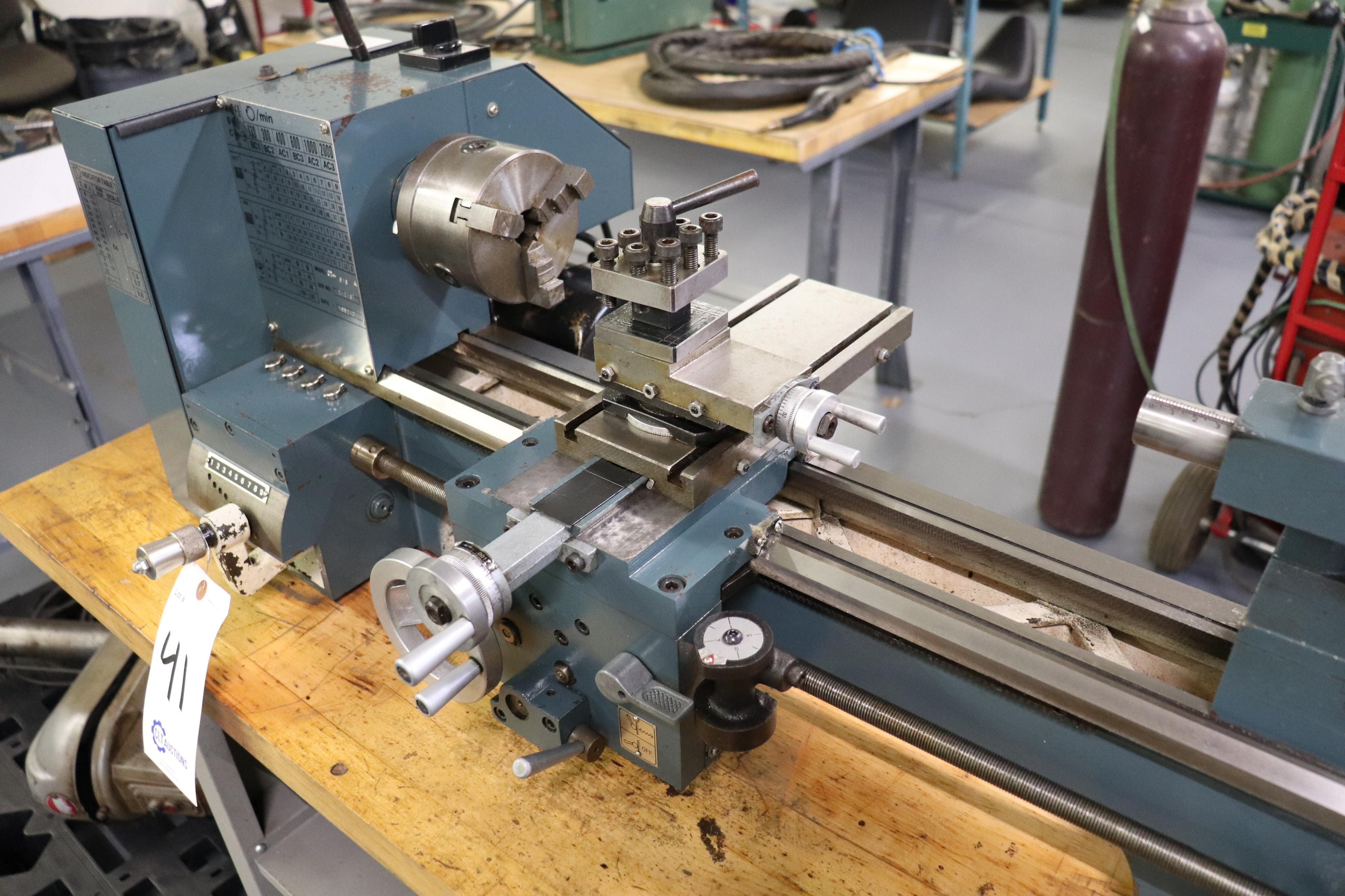 CF 918 bench top lathe w/ Kennedy cabinet, 110v - Image 2 of 17