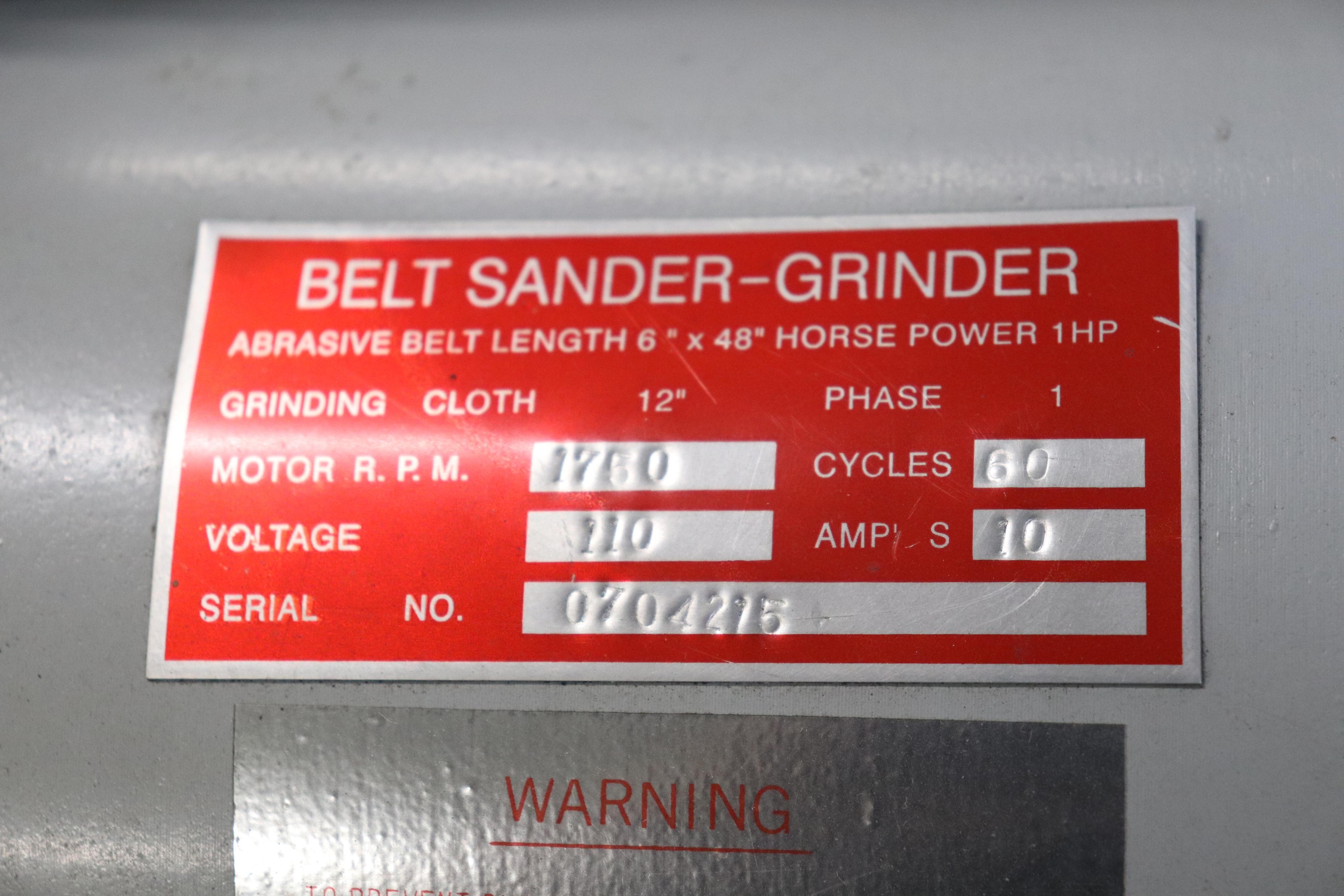 """Belt sander-grinder 12"""" disc & 6"""" belt - Image 3 of 3"""