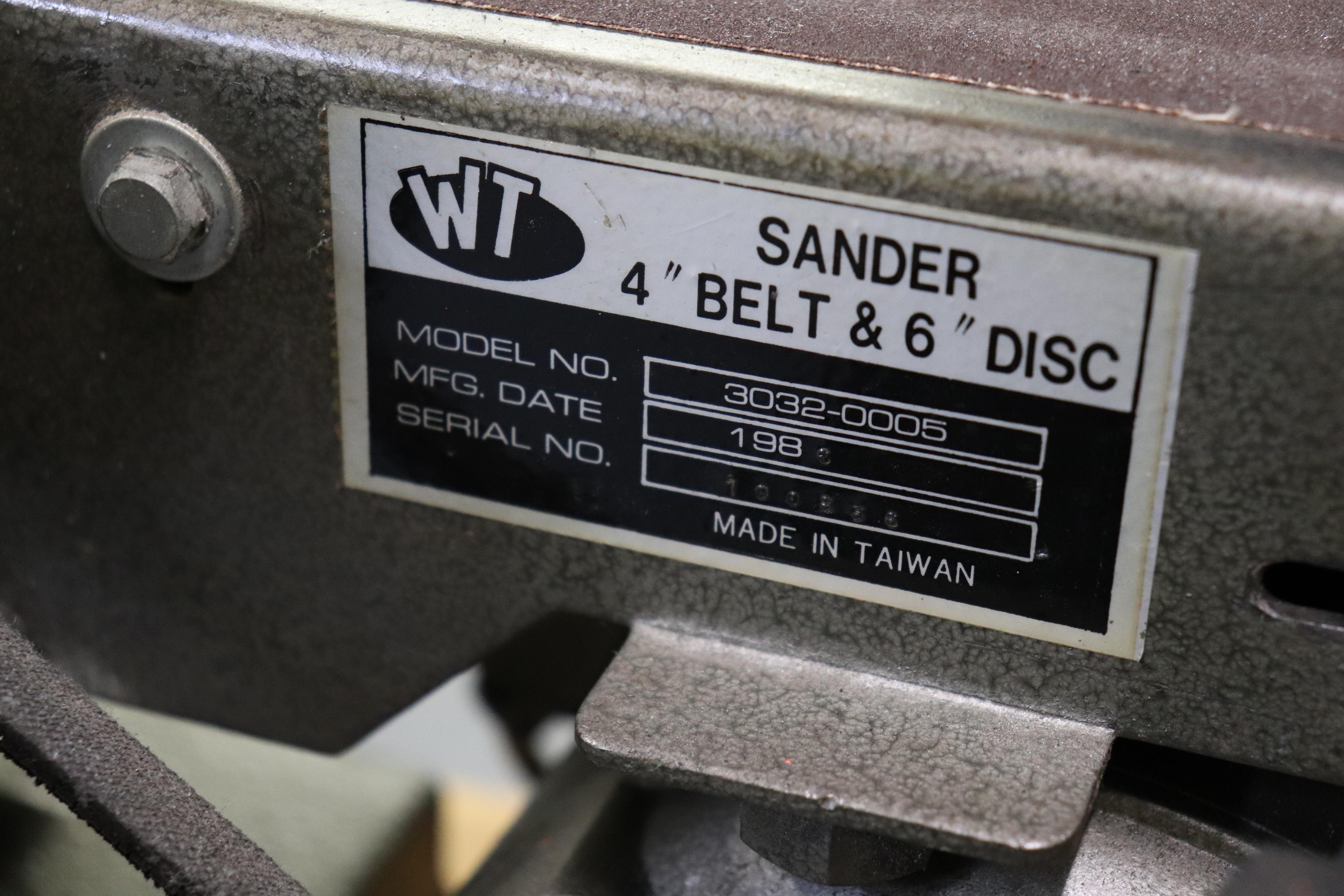 """WT 4"""" belt & 6"""" disc sander - Image 3 of 4"""