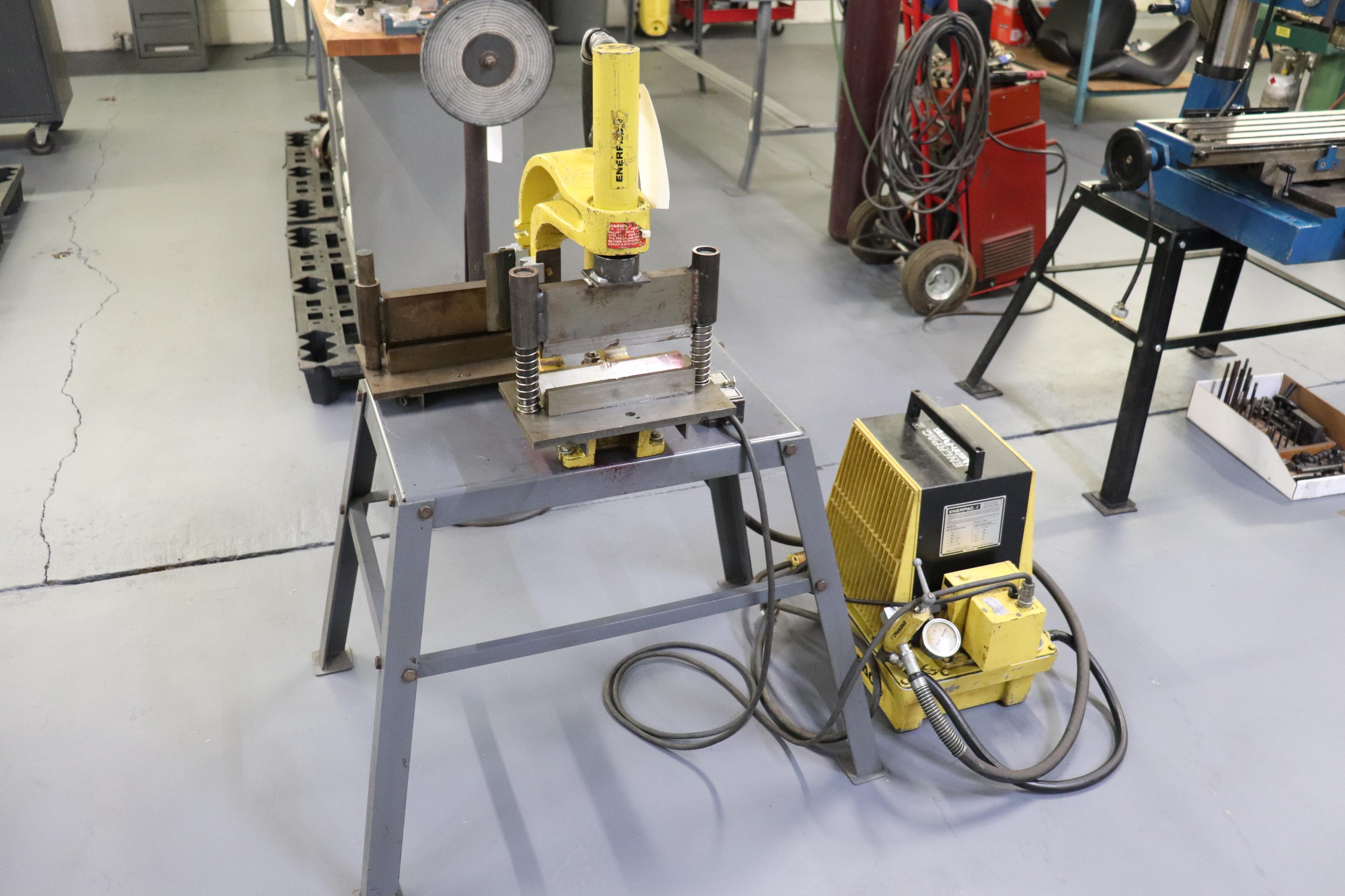 Enerpac Hush pump w/ C frame press