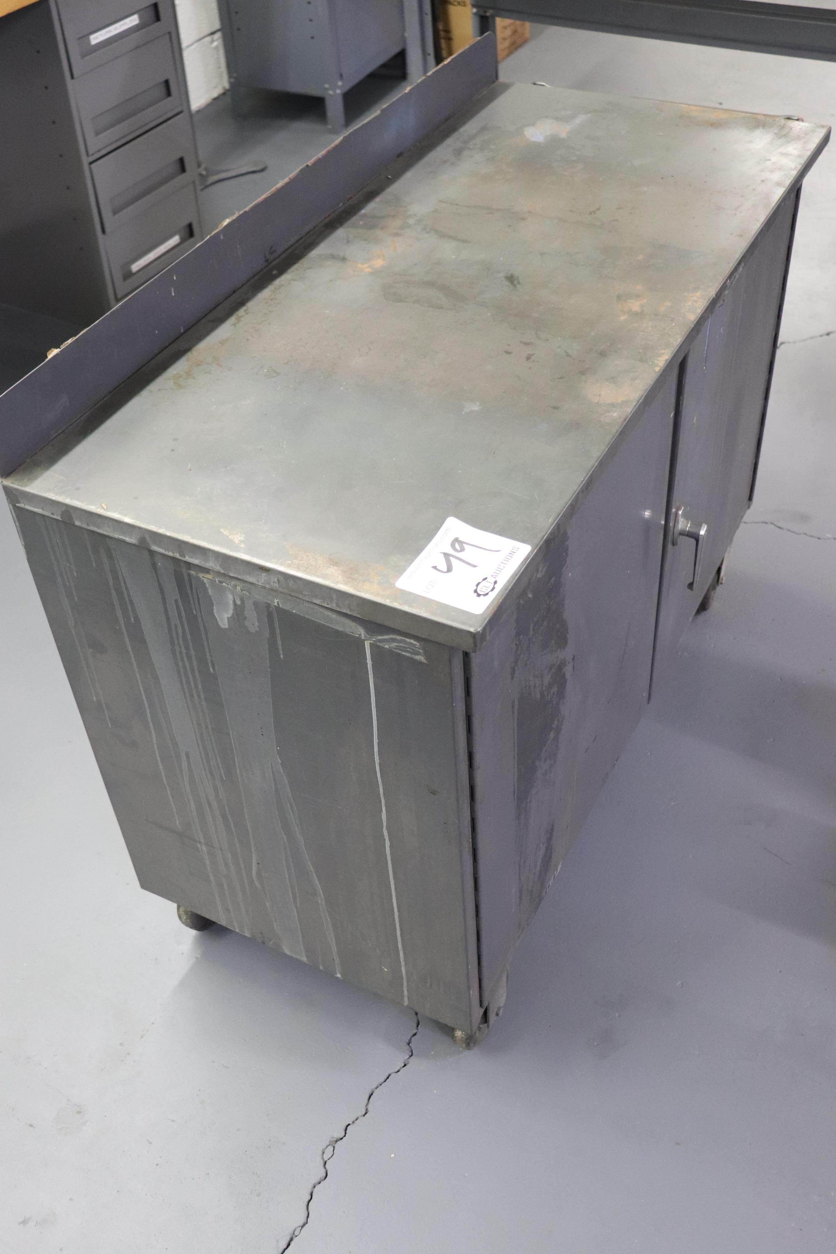 "Steel rolling cabinet 46"" x 21"" x 34"" - Image 2 of 2"