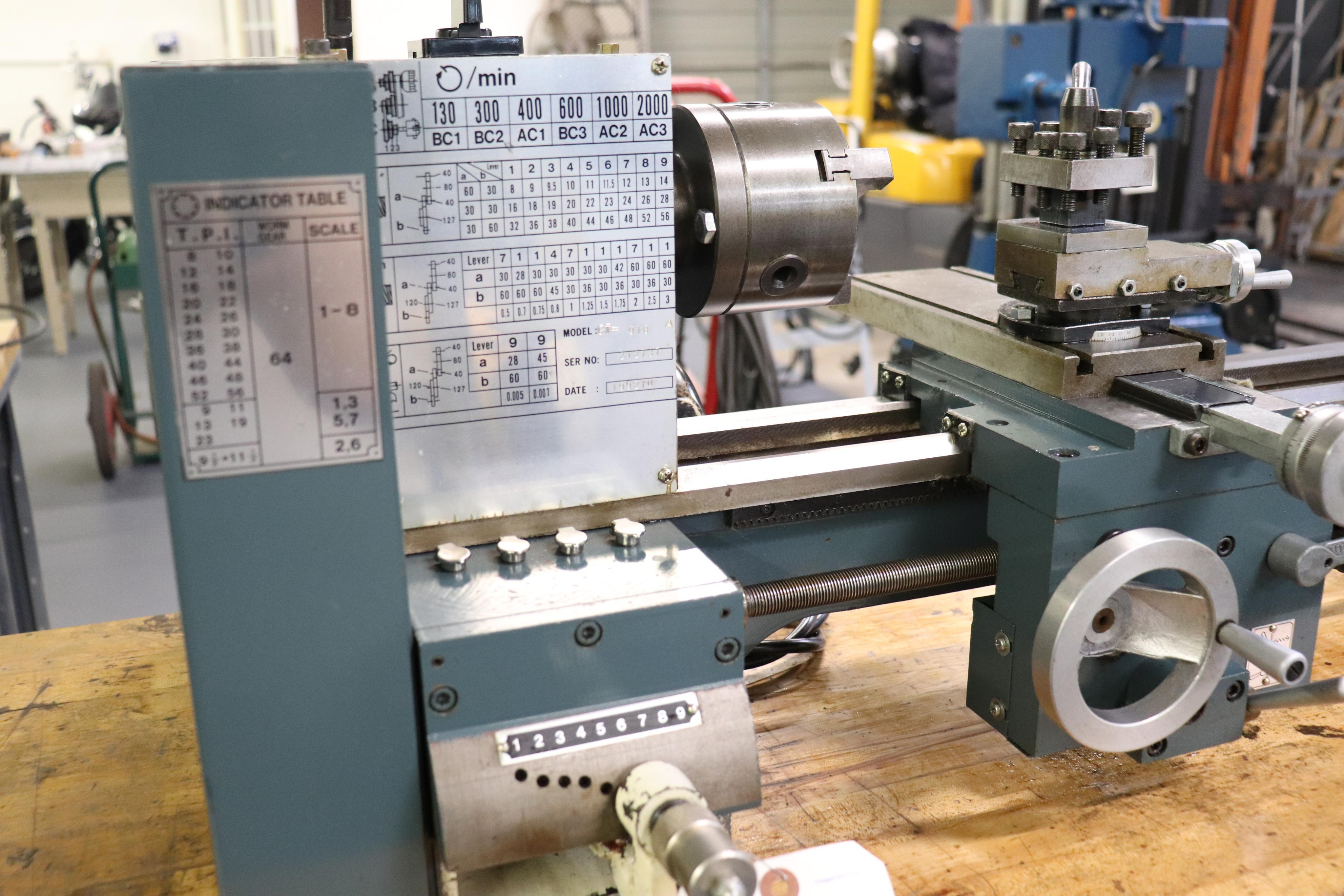CF 918 bench top lathe w/ Kennedy cabinet, 110v - Image 5 of 17