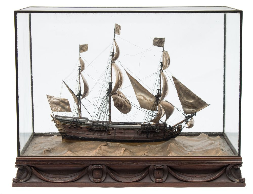 A good early 20th century waterline model of HMS Victory in her first commission 1780,