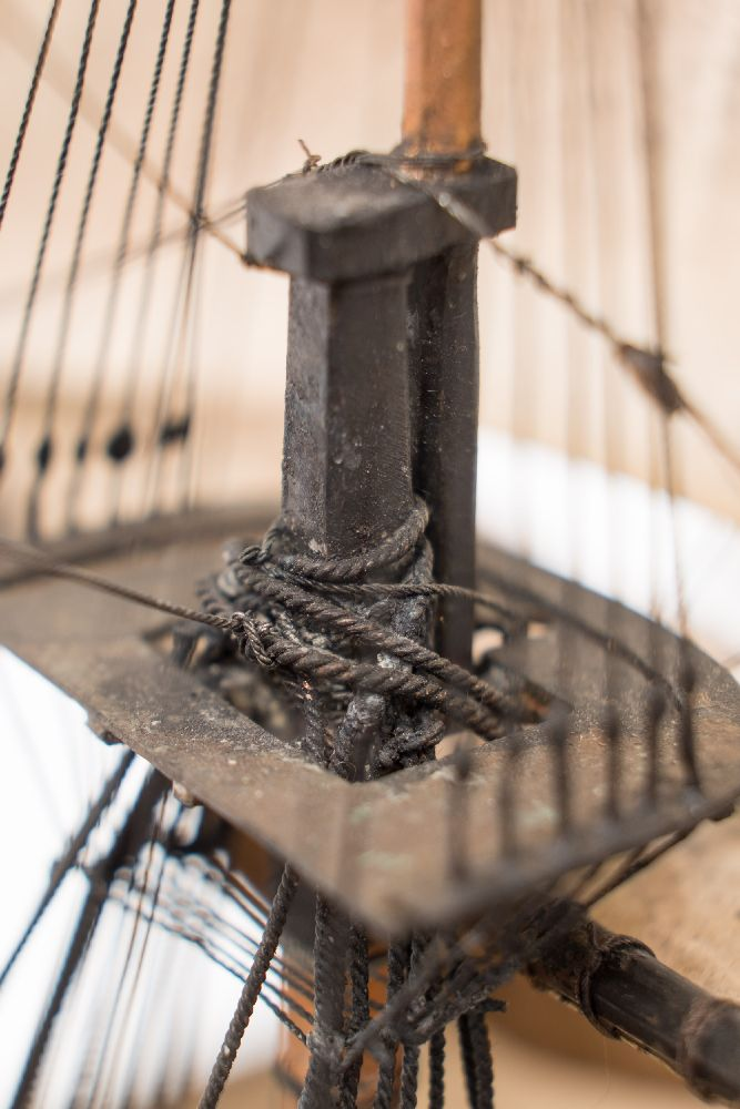 A good early 20th century waterline model of HMS Victory in her first commission 1780, - Image 5 of 18