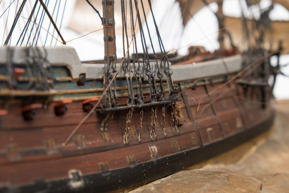 A good early 20th century waterline model of HMS Victory in her first commission 1780, - Image 11 of 18