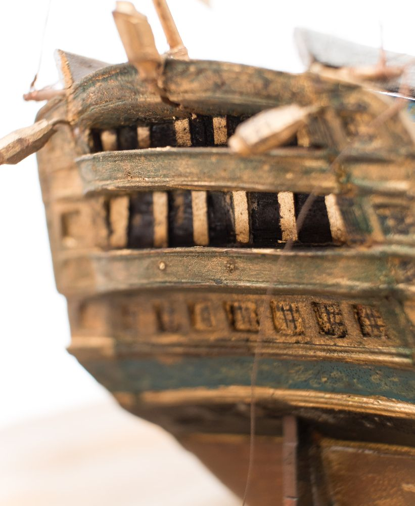 A good early 20th century waterline model of HMS Victory in her first commission 1780, - Image 8 of 18