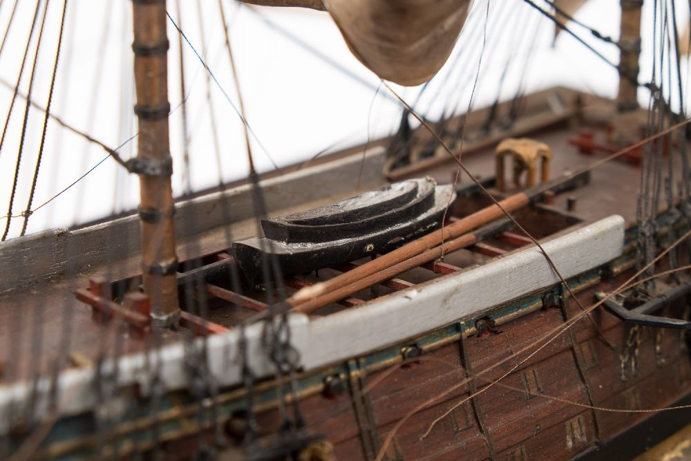 A good early 20th century waterline model of HMS Victory in her first commission 1780, - Image 12 of 18